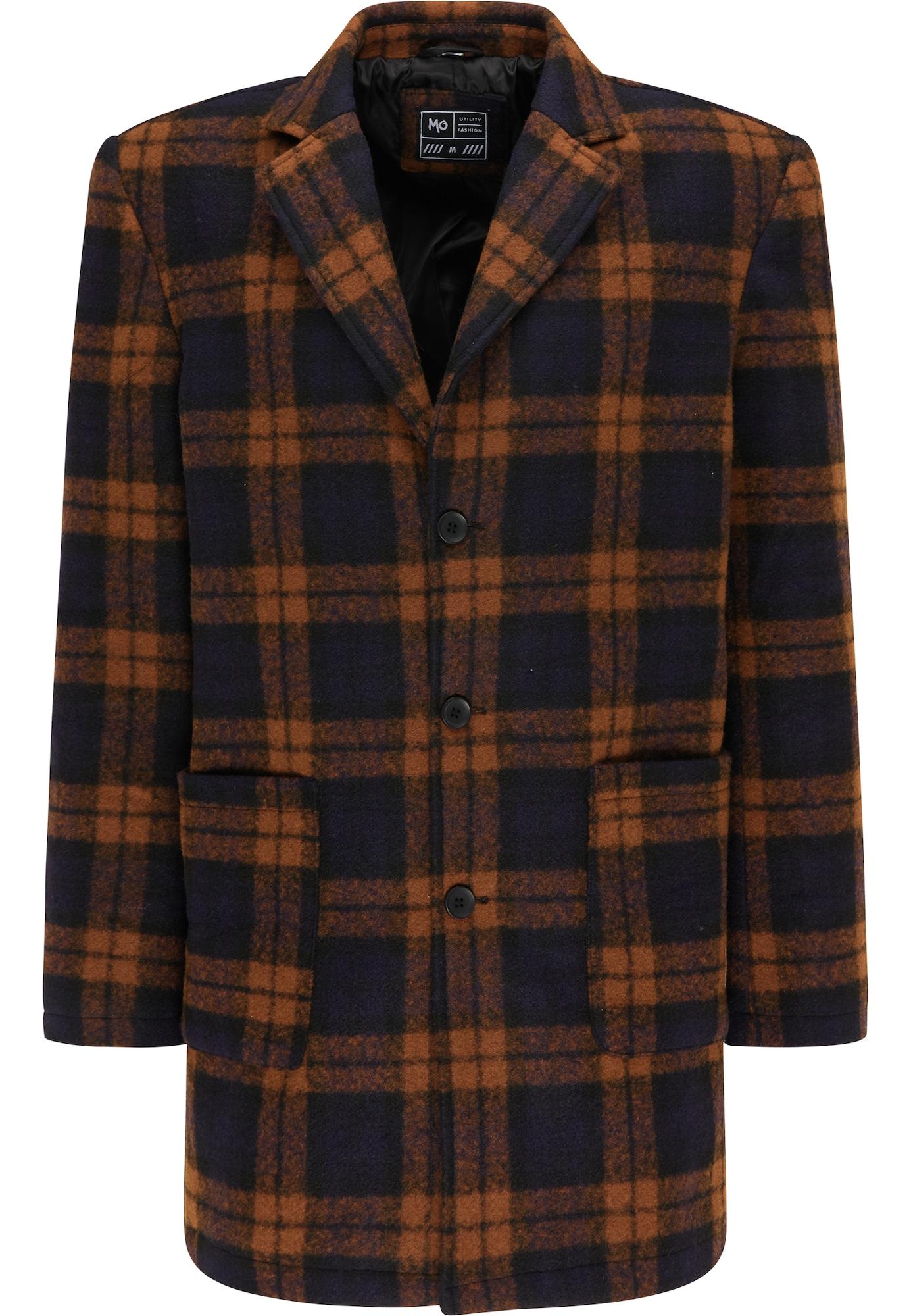 MO Demisezoninis paltas tamsiai mėlyna / oranžinė