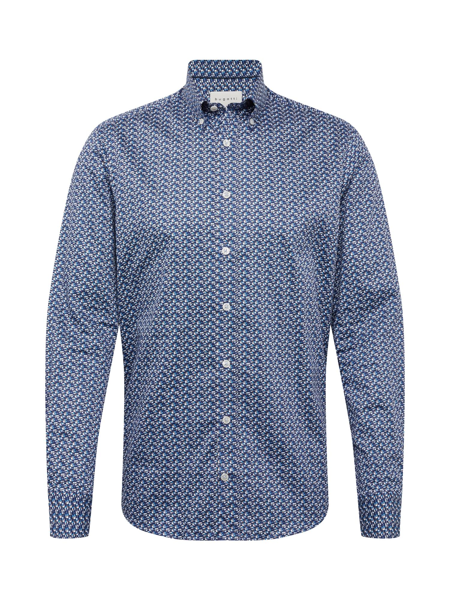 bugatti Marškiniai tamsiai mėlyna / mišrios spalvos