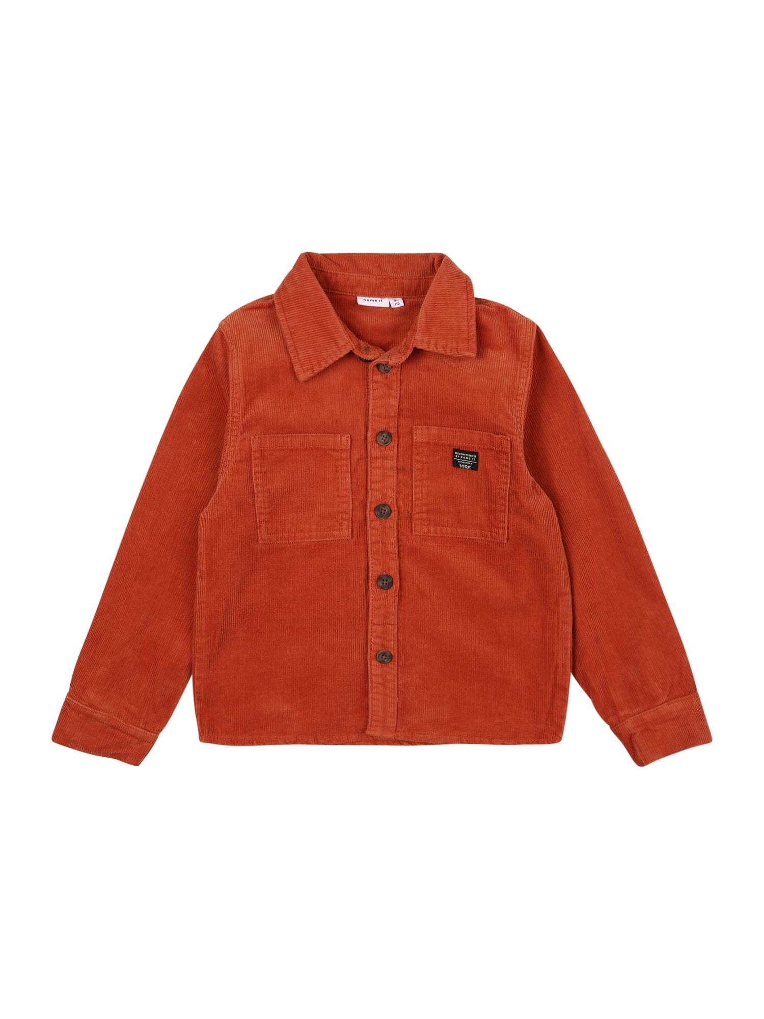 NAME IT Marškiniai 'BATAMIS' rūdžių raudona