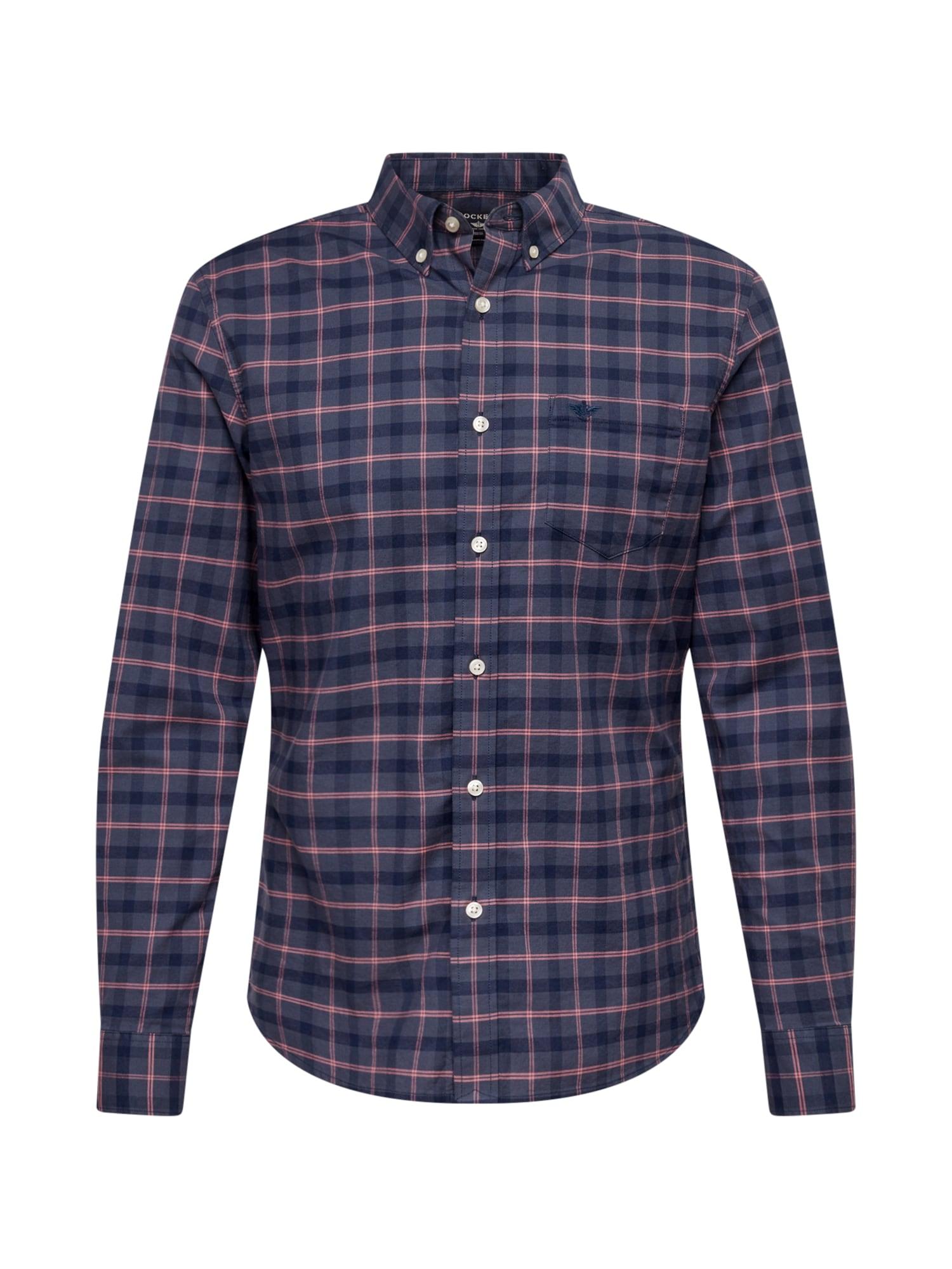 Dockers Marškiniai tamsiai mėlyna / melsvai pilka / rožinė