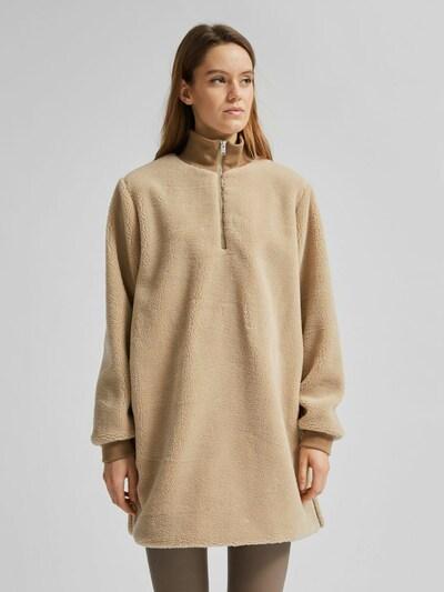 Selected Femme Larna langer hochgeschlossener Teddy-Pullover