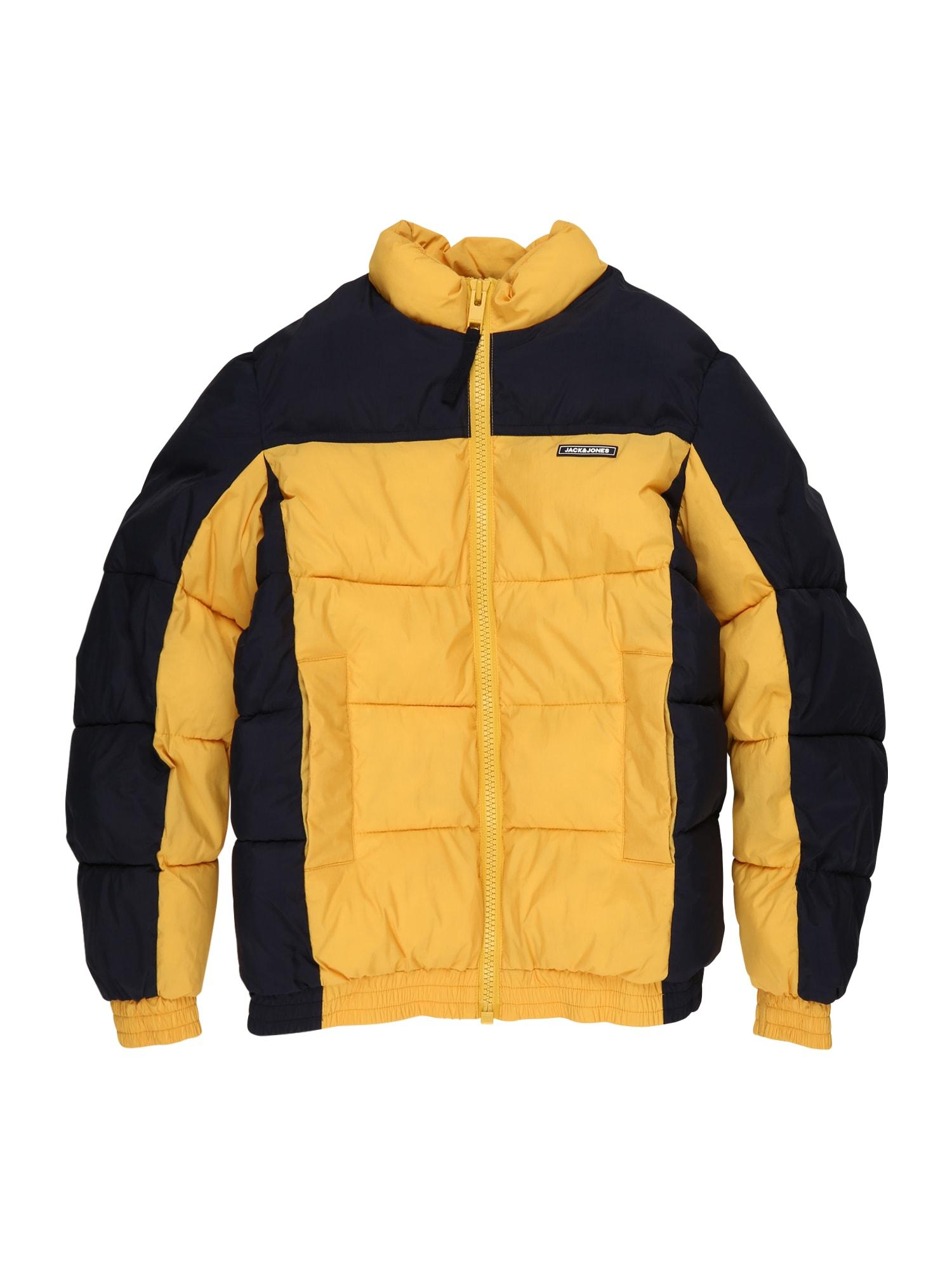 Jack & Jones Junior Zimní bunda 'Spector'  zlatě žlutá / noční modrá