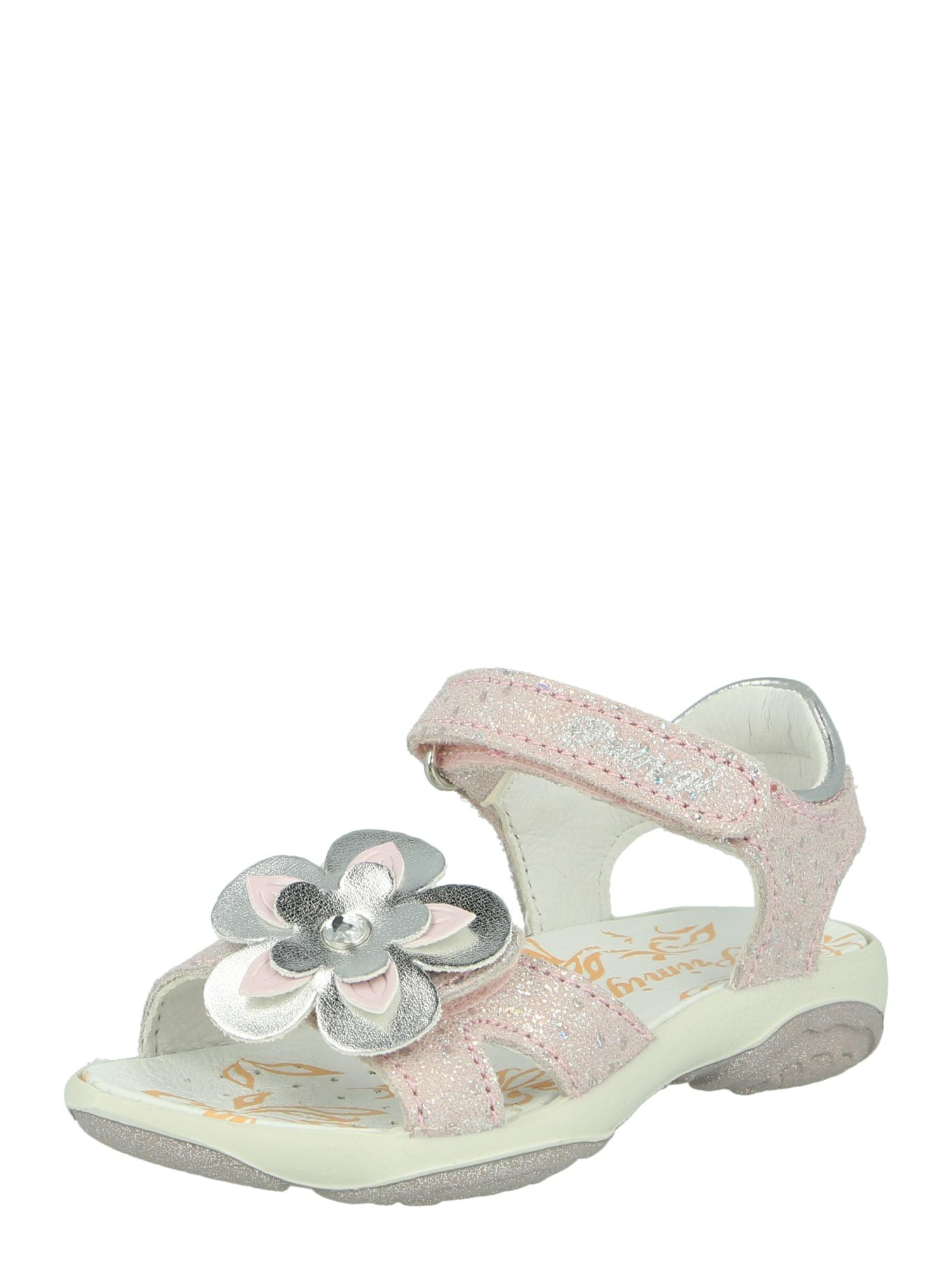 PRIMIGI Sandalai rožių spalva / sidabrinė