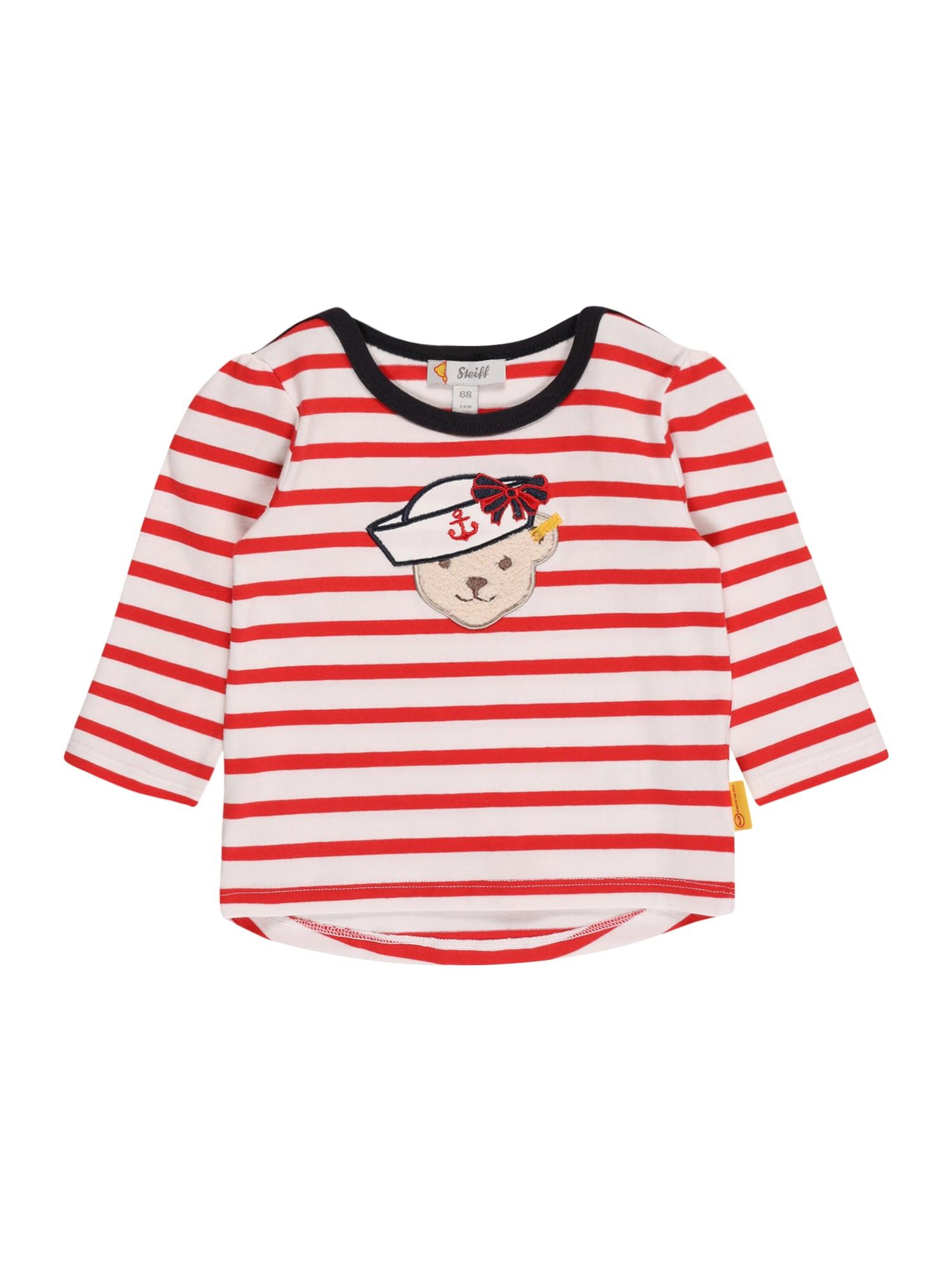 Steiff Collection Marškinėliai raudona / balta / juoda