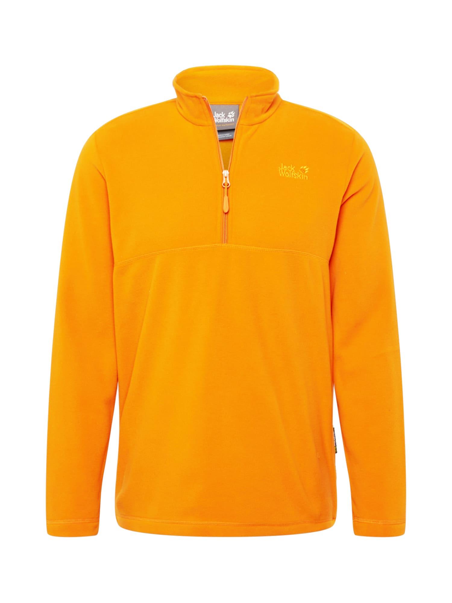 JACK WOLFSKIN Fleecová mikina 'GECKO'  oranžová