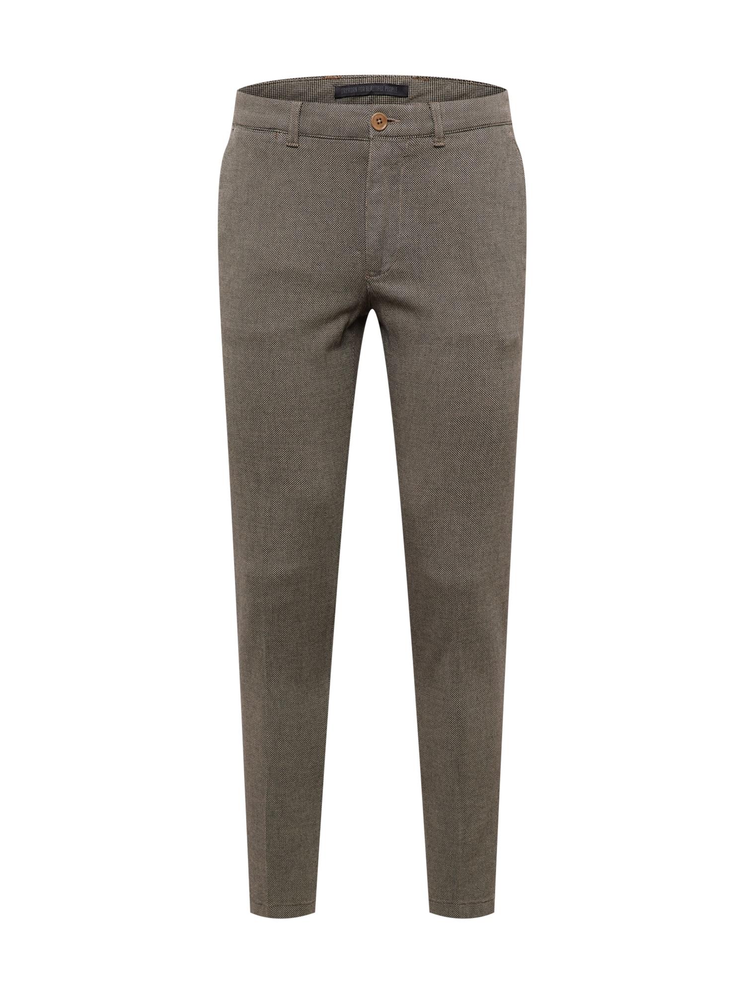 DRYKORN Chino kalhoty 'MAD'  světle hnědá / tmavě hnědá