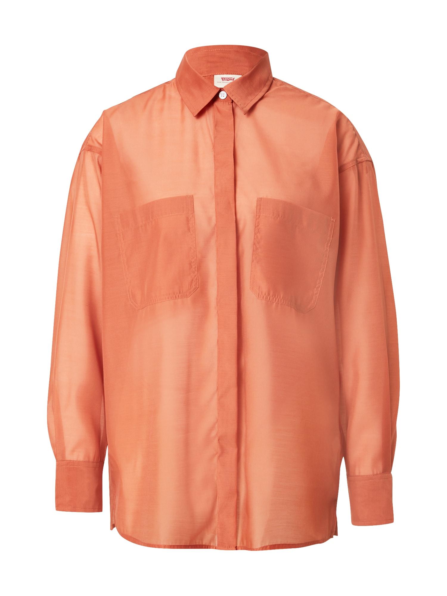 LEVI'S Palaidinė 'EUNICE UTILITY SHIRT' oranžinė-raudona