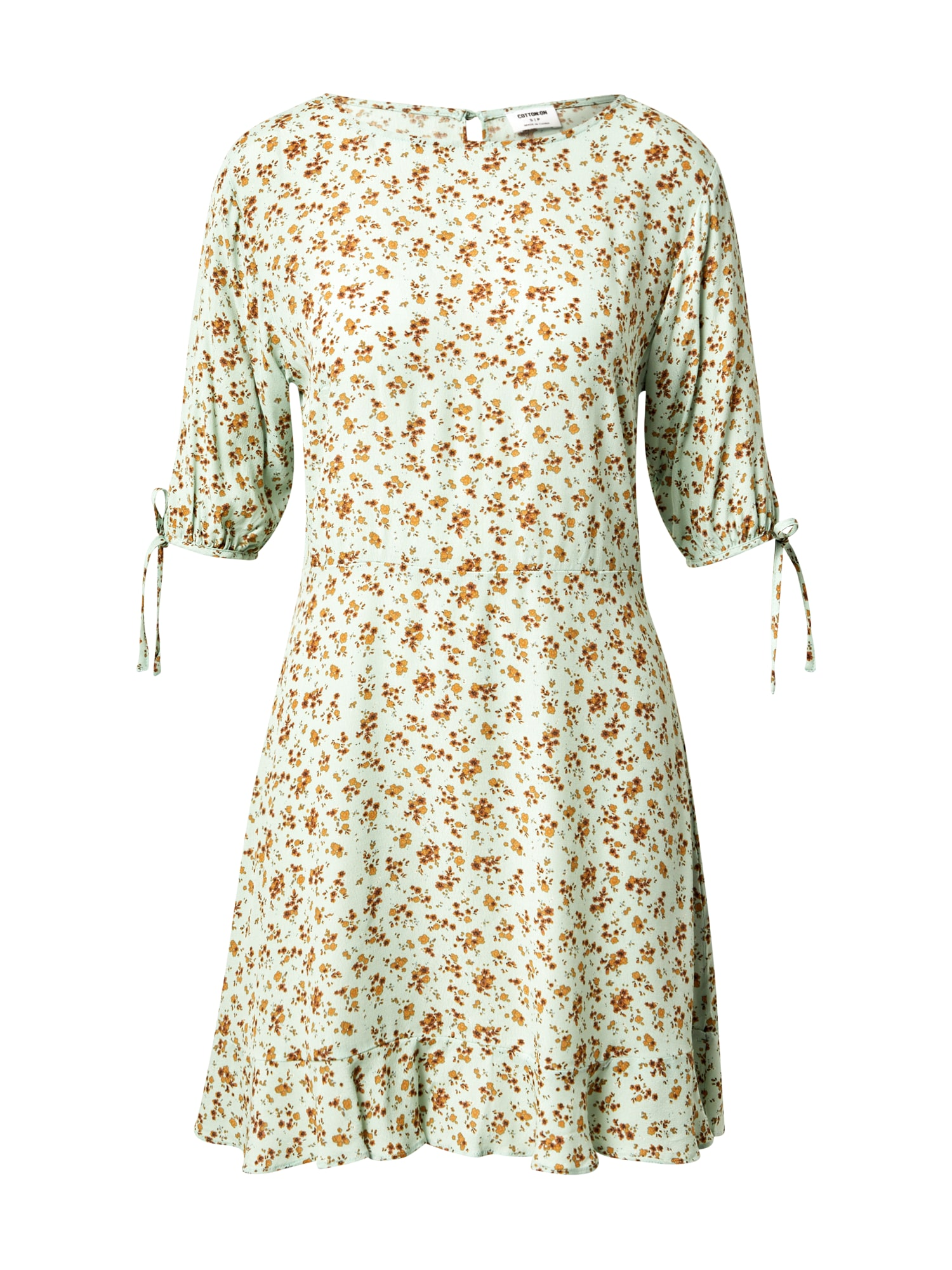 Cotton On Šaty 'Lucie'  aqua modrá / béžová