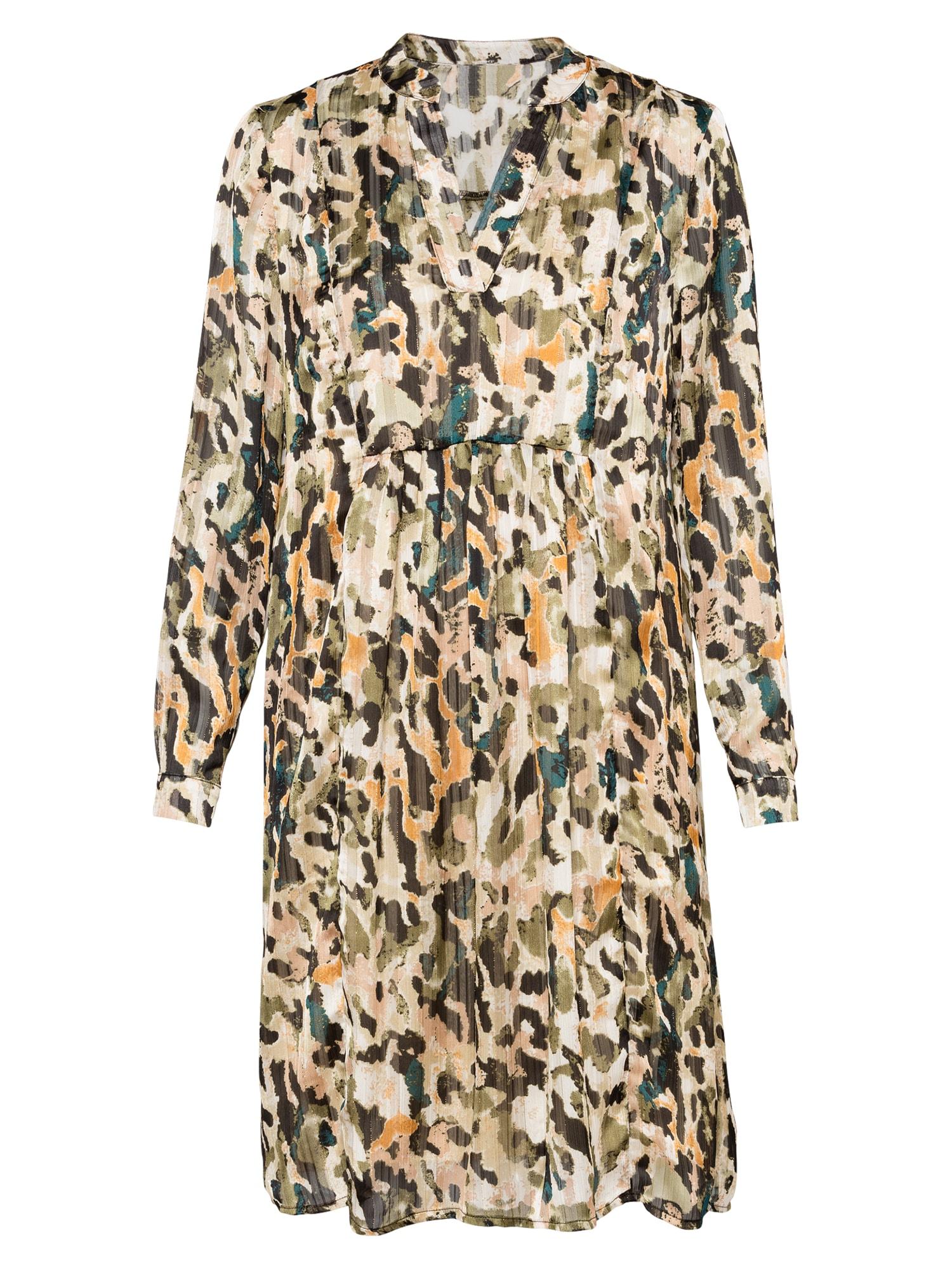 Love & Divine Palaidinės tipo suknelė rusvai žalia / smėlio / oranžinė / benzino spalva / juoda