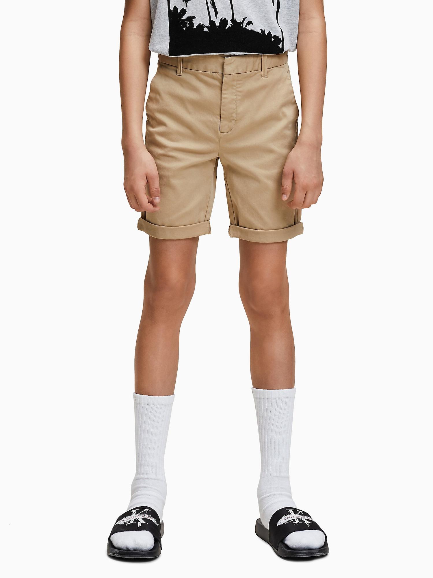 Calvin Klein Jeans Byxa 'SLIM CHINO SHORT'  beige