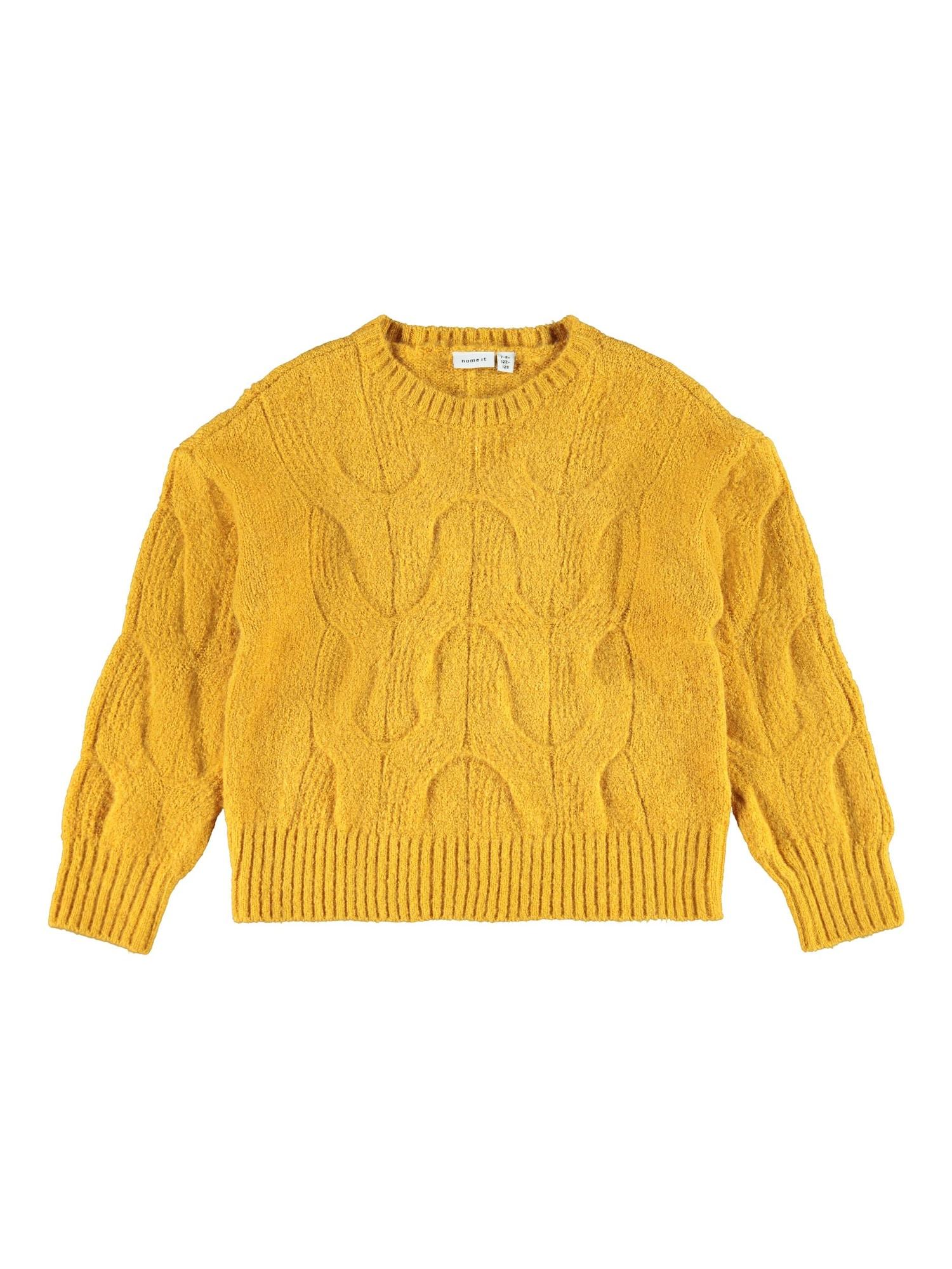 NAME IT Megztinis aukso geltonumo spalva