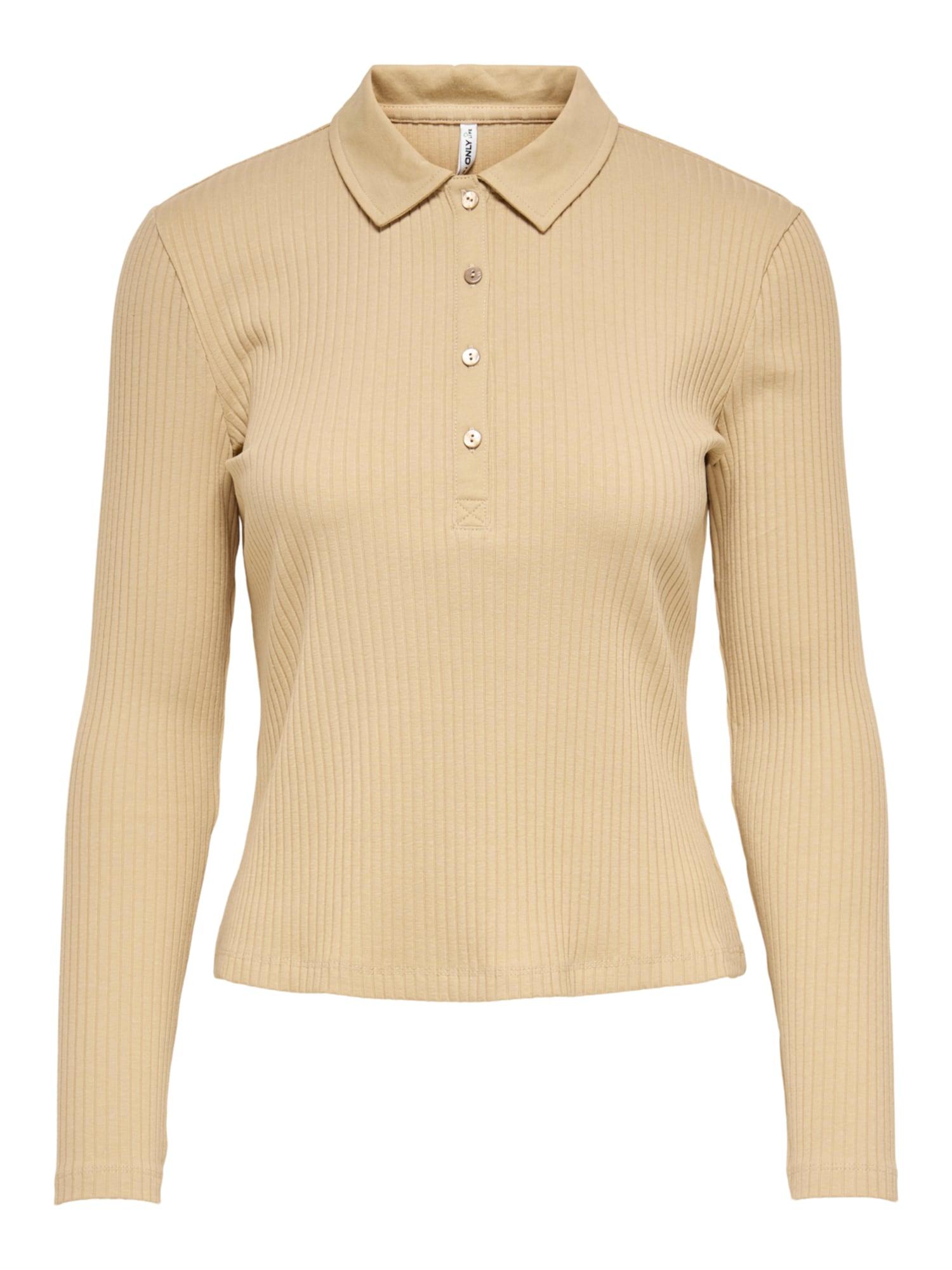 ONLY Marškinėliai 'Uma' gelsvai pilka spalva