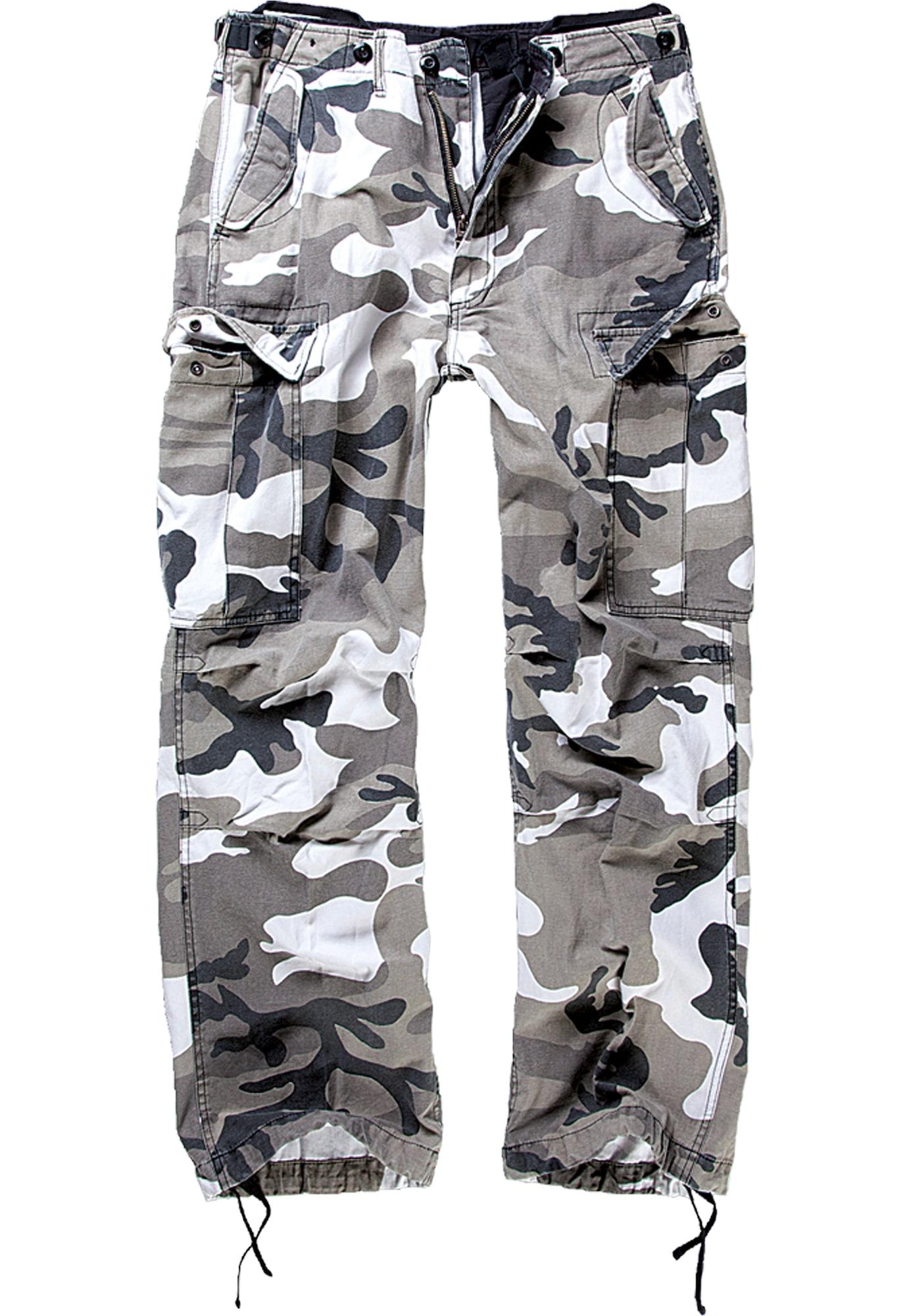 Brandit Laisvo stiliaus kelnės rusvai žalia / balta / antracito spalva / smėlio
