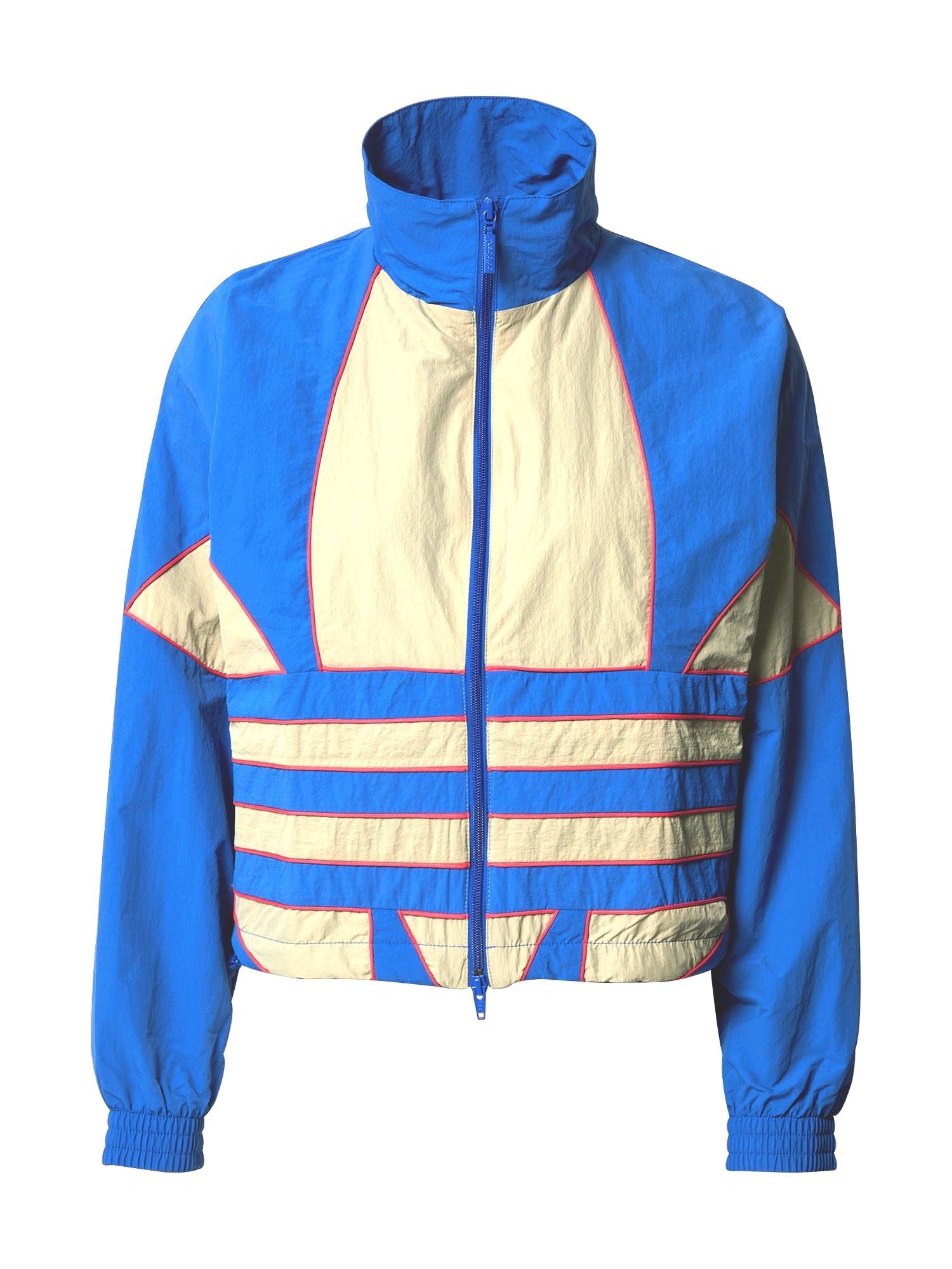 ADIDAS ORIGINALS Demisezoninė striukė mėlyna / kremo / rožinė