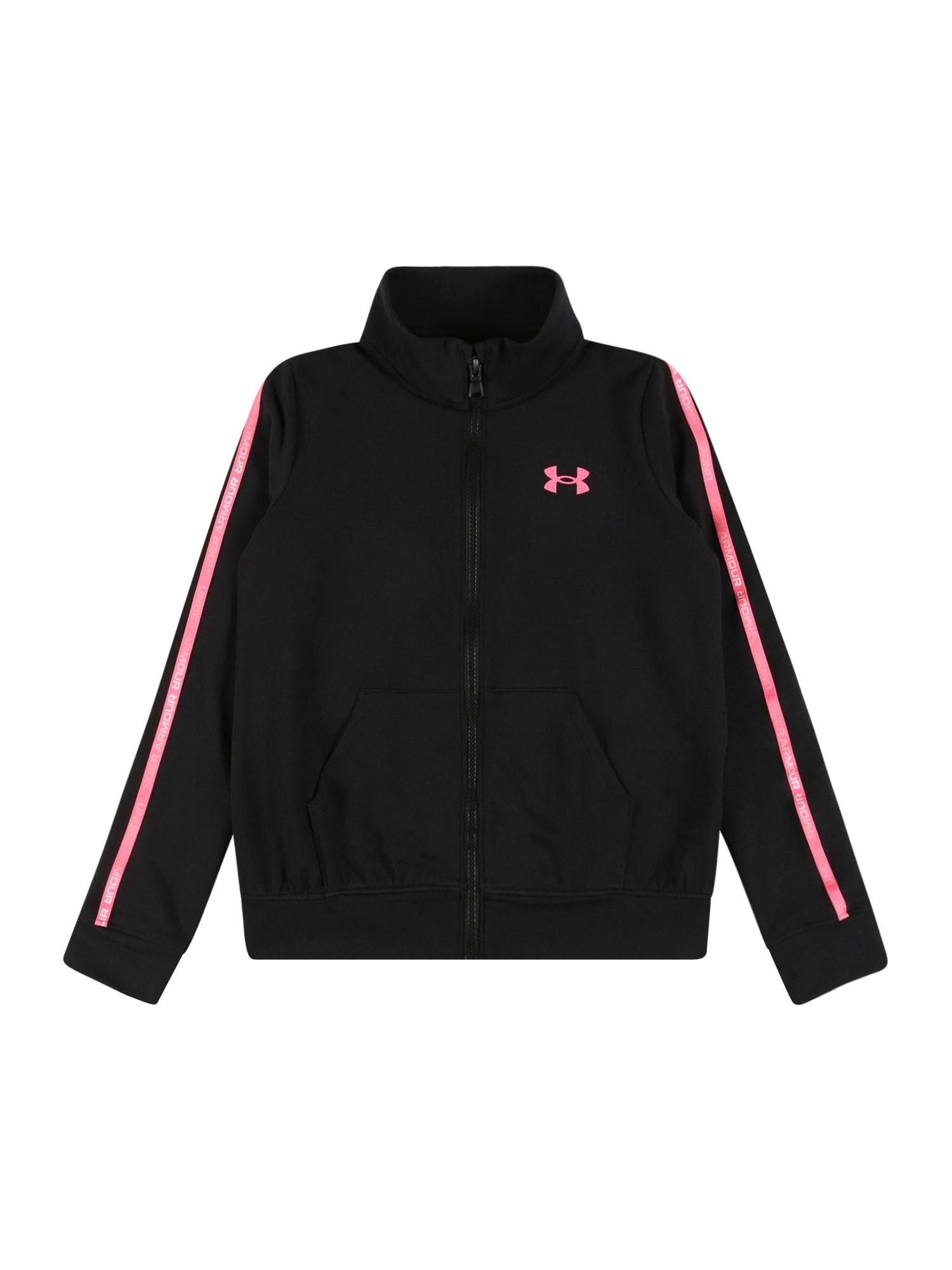 UNDER ARMOUR Sportinis džemperis juoda / rožinė