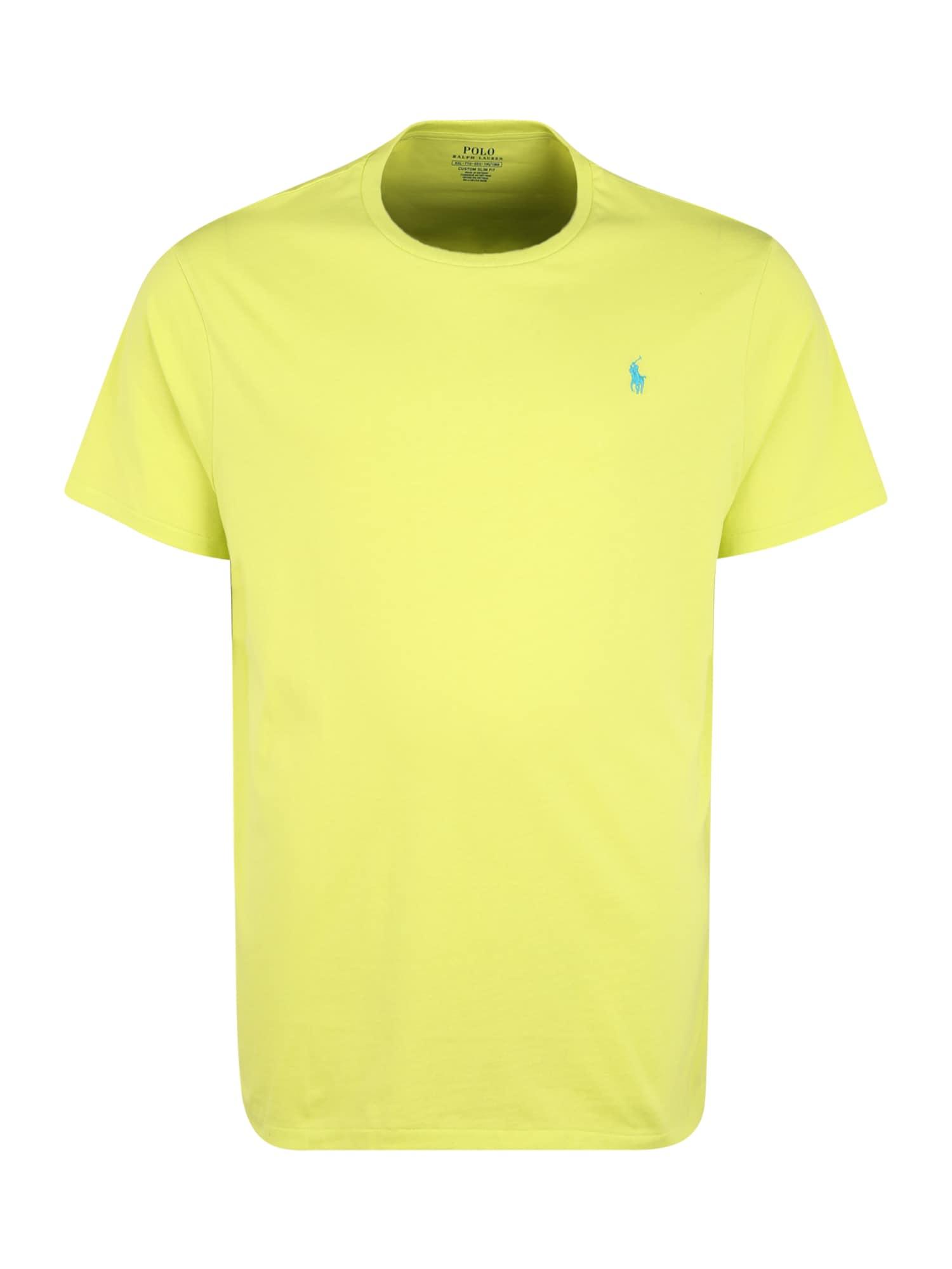 POLO RALPH LAUREN Marškinėliai neoninė geltona / vandens spalva