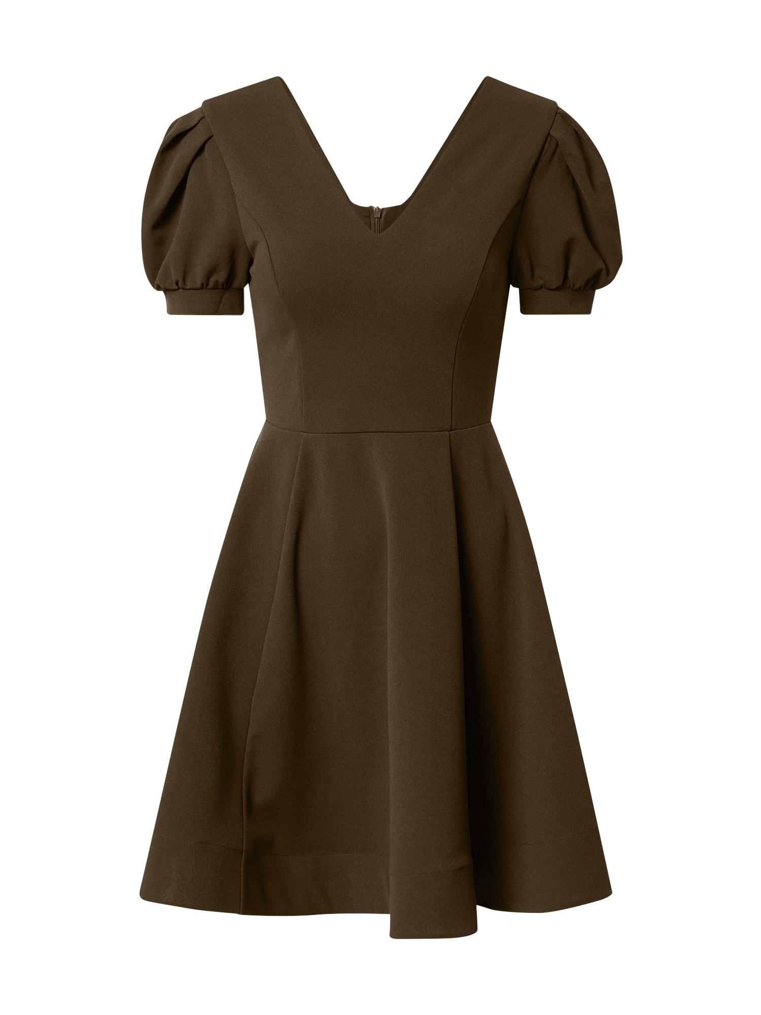 Skirt & Stiletto Kokteilinė suknelė rusvai žalia