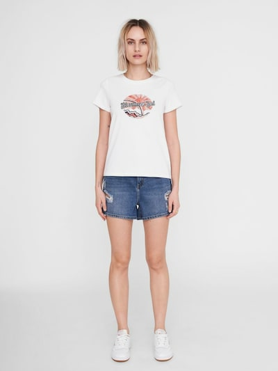 - T-Shirt - Rundhalsausschnitt - Kurze Ärmel - Mit Print auf der Vorderseite - Baumwollstoff - Normale Passform