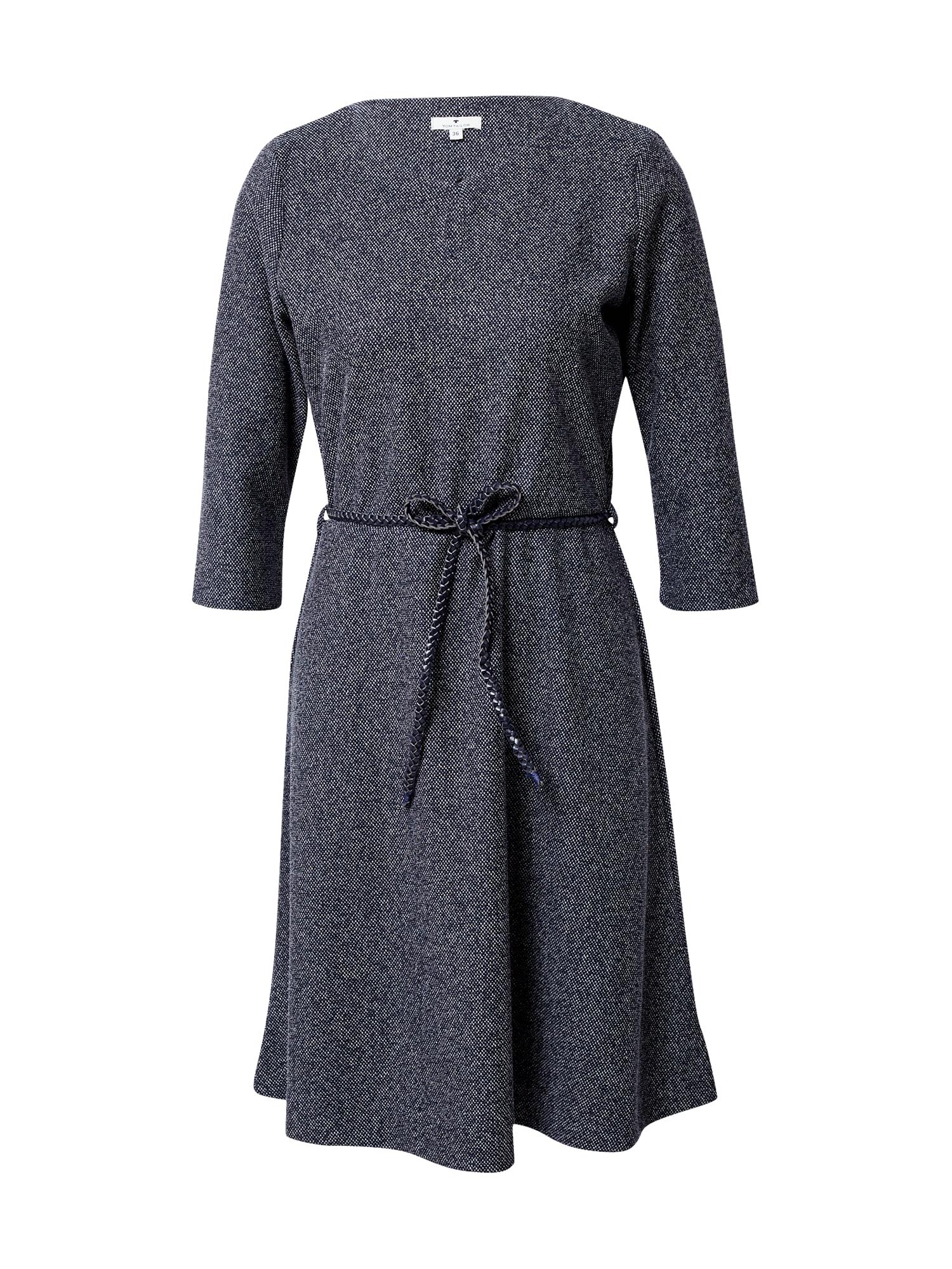 TOM TAILOR Šaty  námořnická modř / bílá