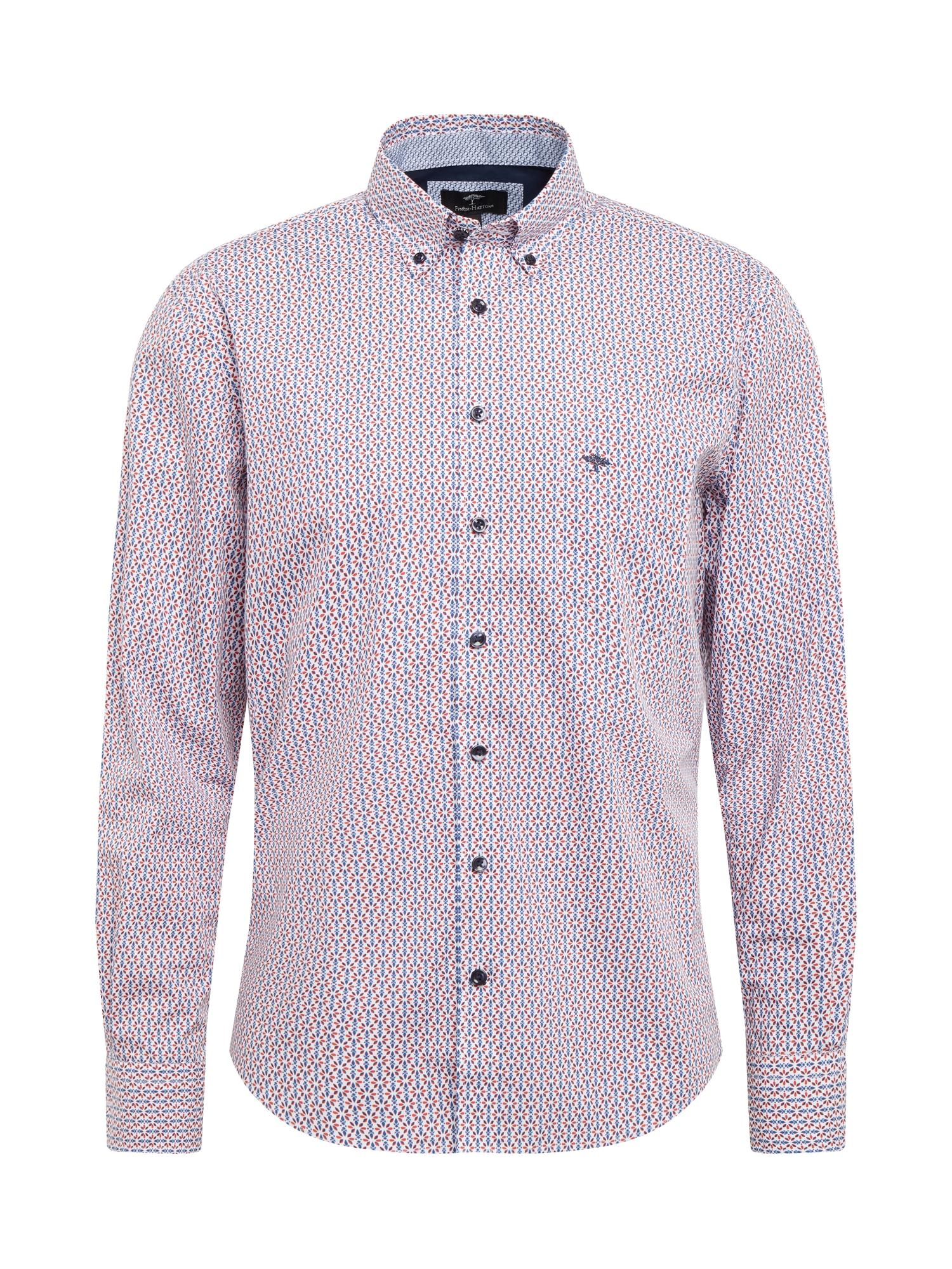 """FYNCH-HATTON Marškiniai pastelinė raudona / sodri mėlyna (""""karališka"""") / balta"""