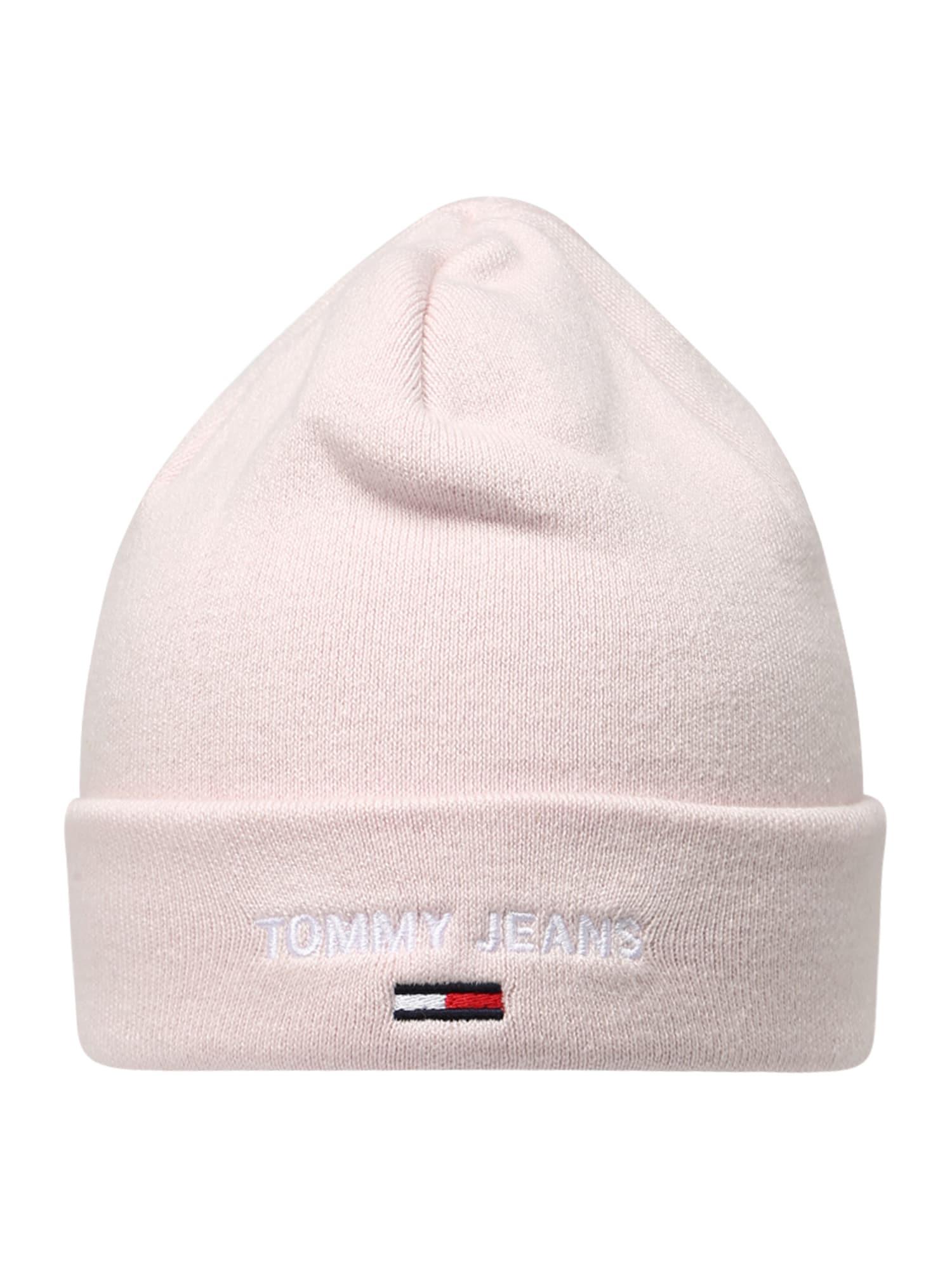 Tommy Jeans Čepice  světle růžová / bílá / noční modrá / červená