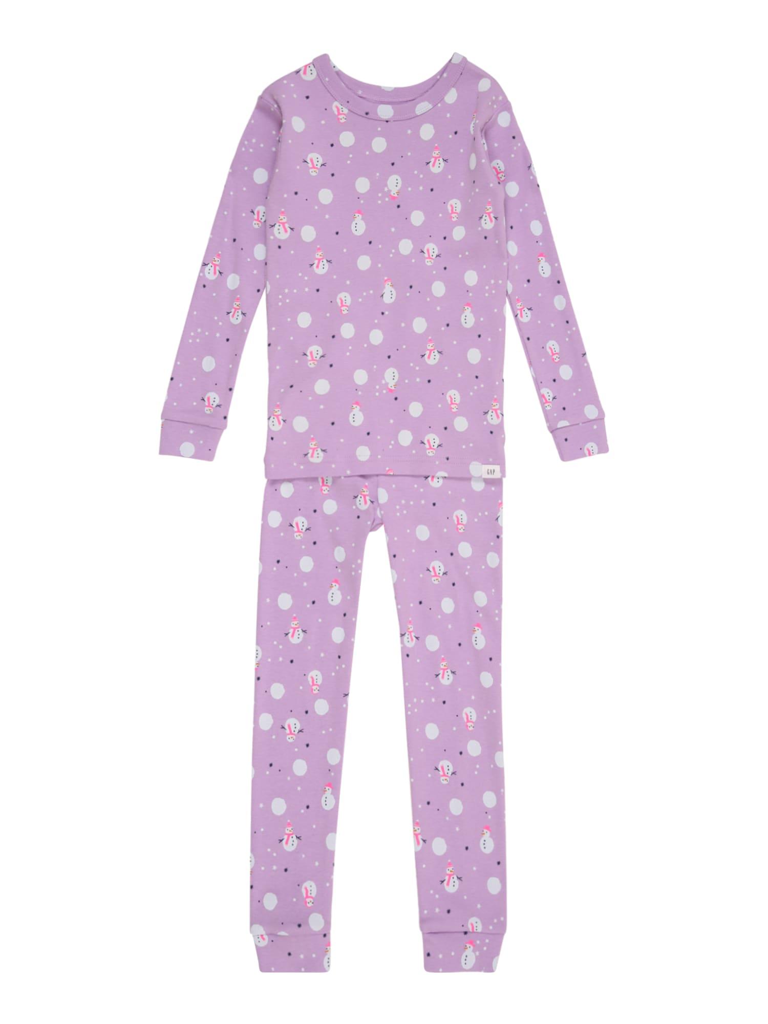 GAP Miego kostiumas 'SNOWMEN' rožinė / balta / šviesiai violetinė