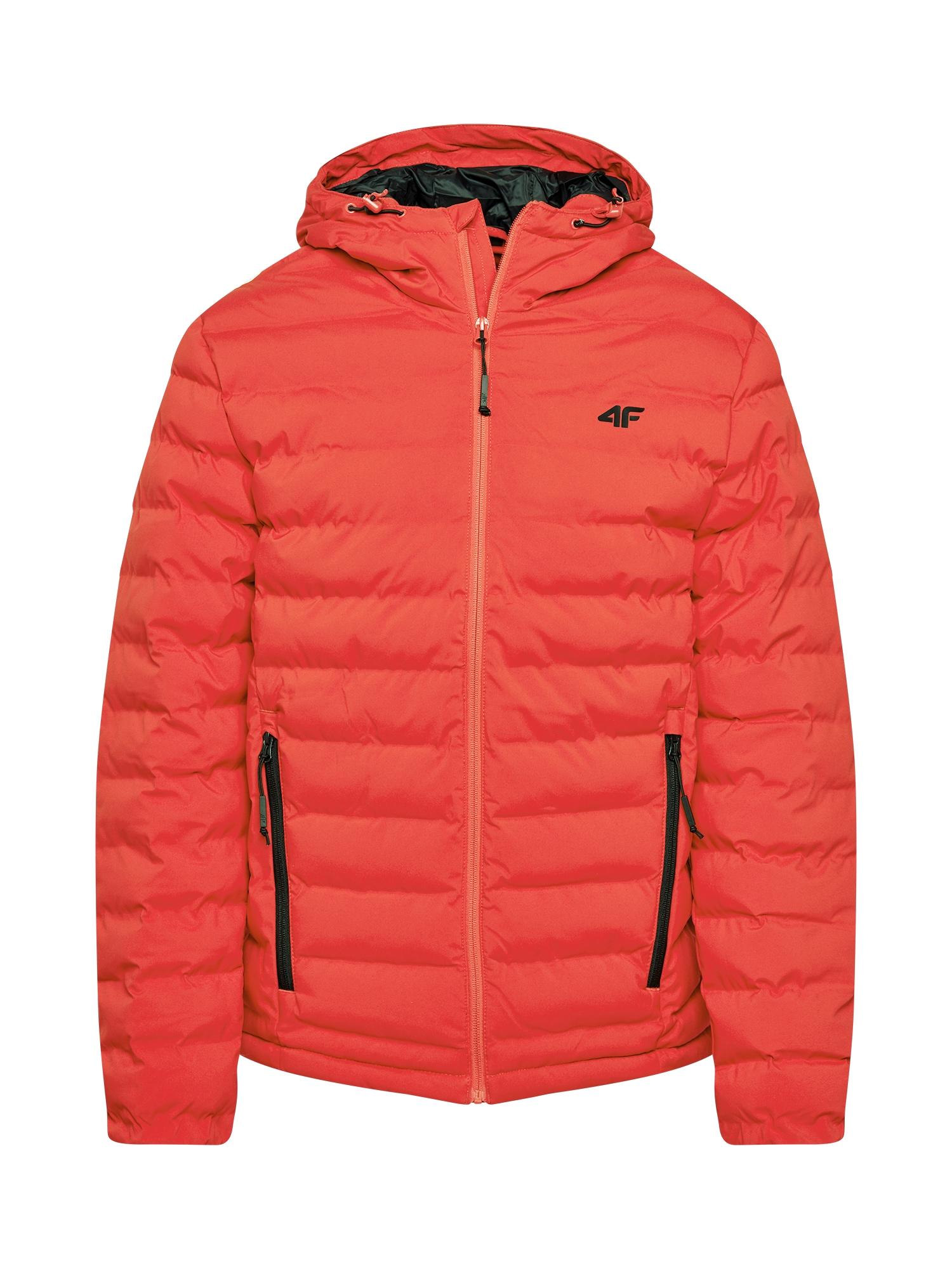 4F Laisvalaikio striukė oranžinė-raudona / juoda
