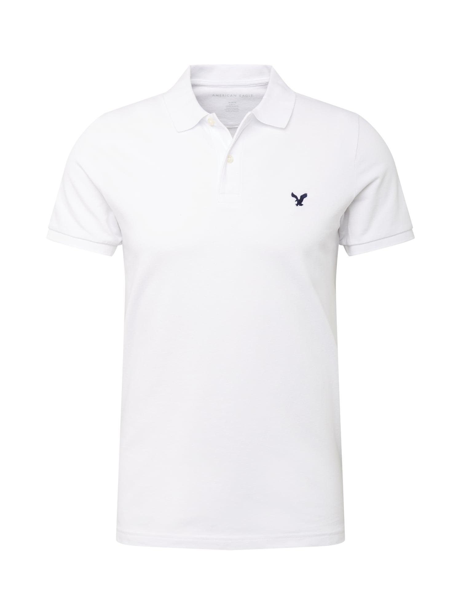 American Eagle Marškinėliai balta / tamsiai mėlyna