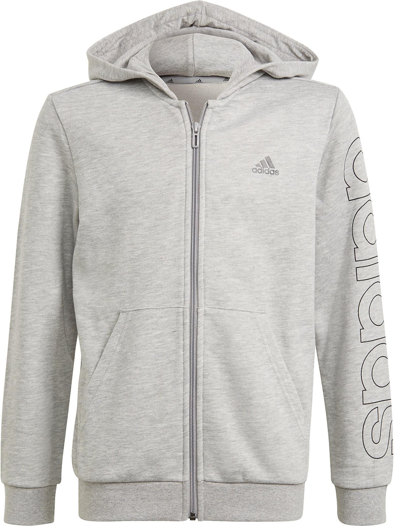 ADIDAS PERFORMANCE Sportinis džemperis juoda / šviesiai pilka / tamsiai pilka