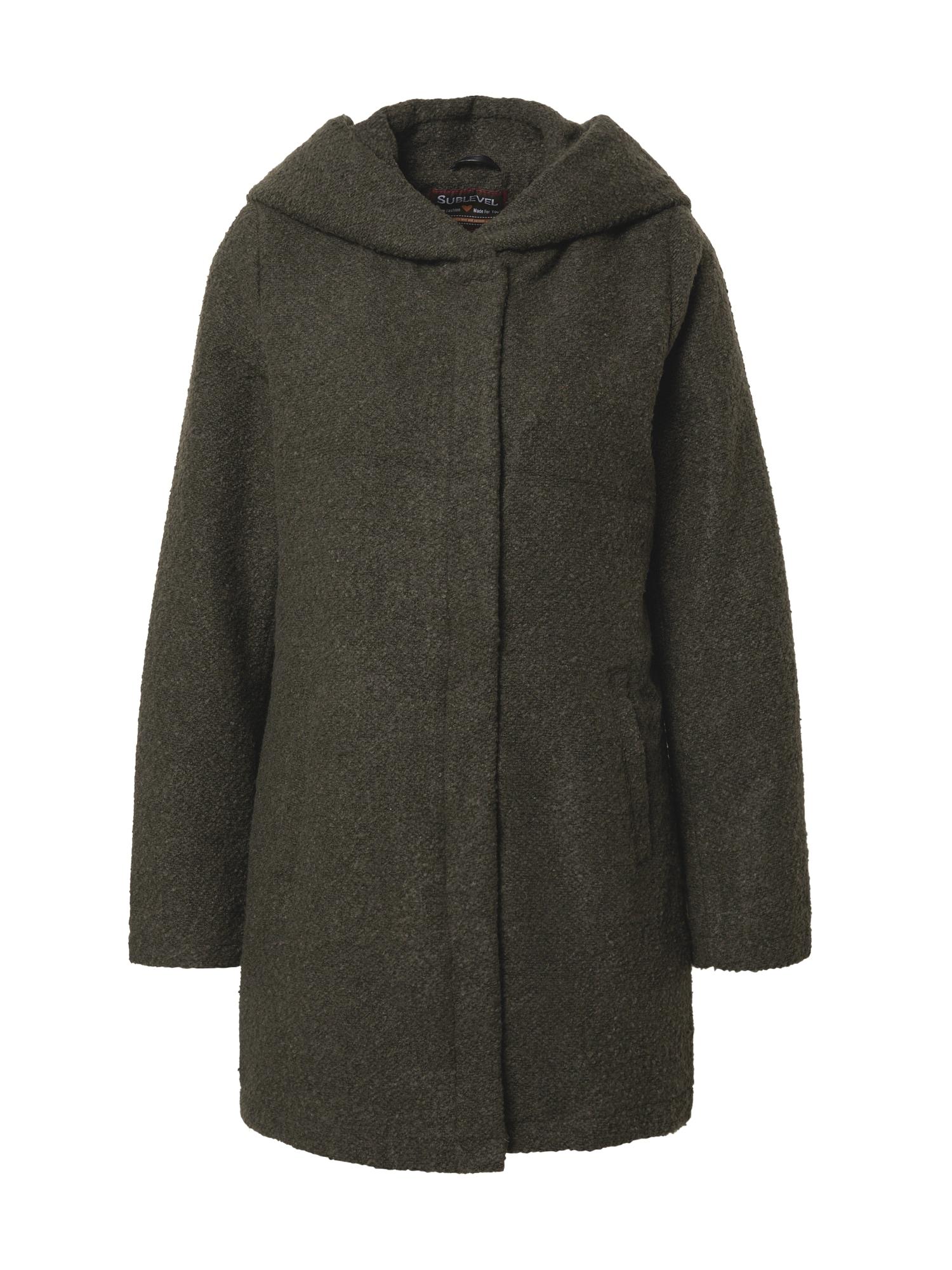 Sublevel Demisezoninis paltas žalia