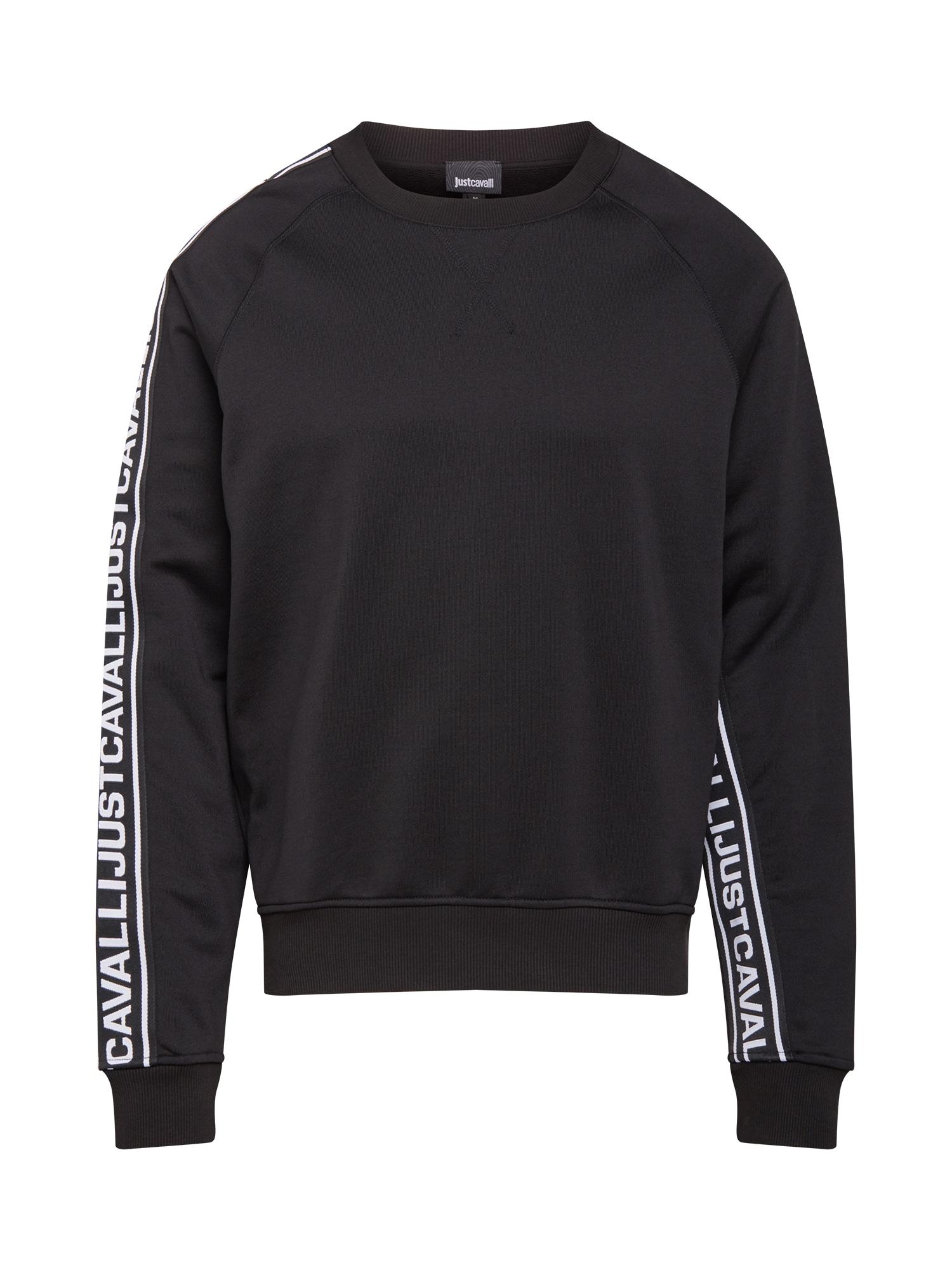Just Cavalli Megztinis be užsegimo juoda / balta