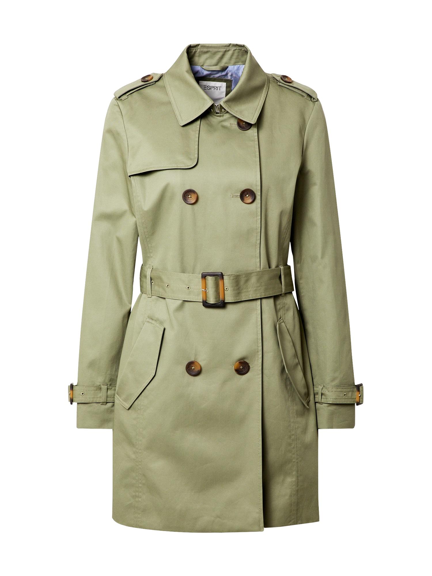 ESPRIT Demisezoninis paltas rusvai žalia