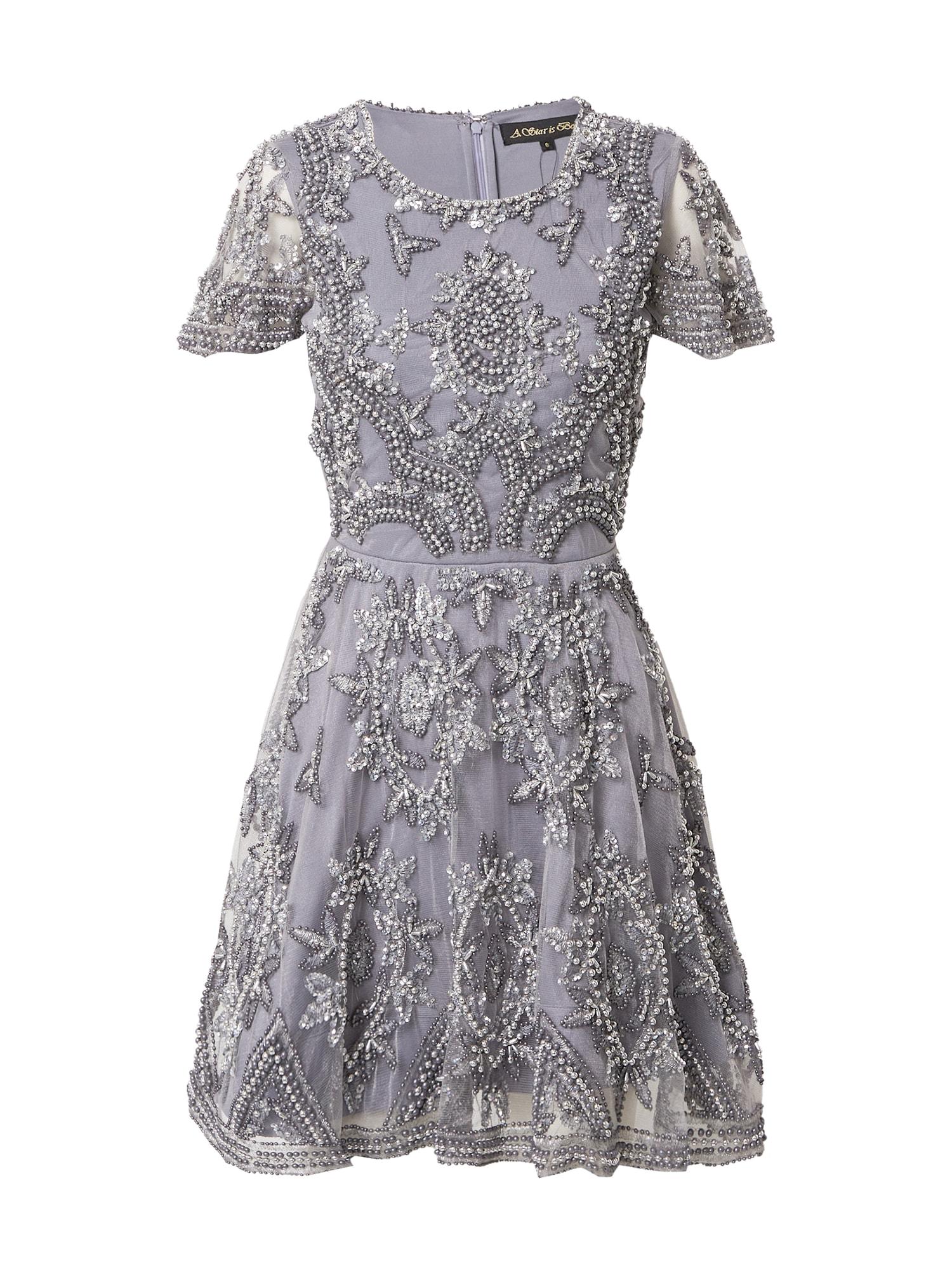 A STAR IS BORN Kokteilinė suknelė sidabrinė / pilka