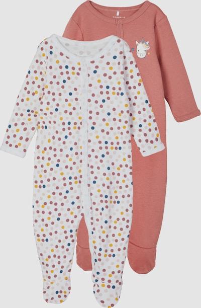 Name It Baby Langarm-Schlafanzug mit verwelkter Rose 2er-Pack