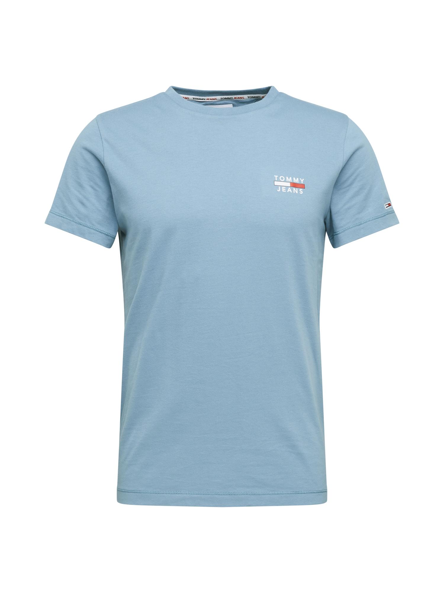 Tommy Jeans Tričko  světlemodrá / bílá / červená