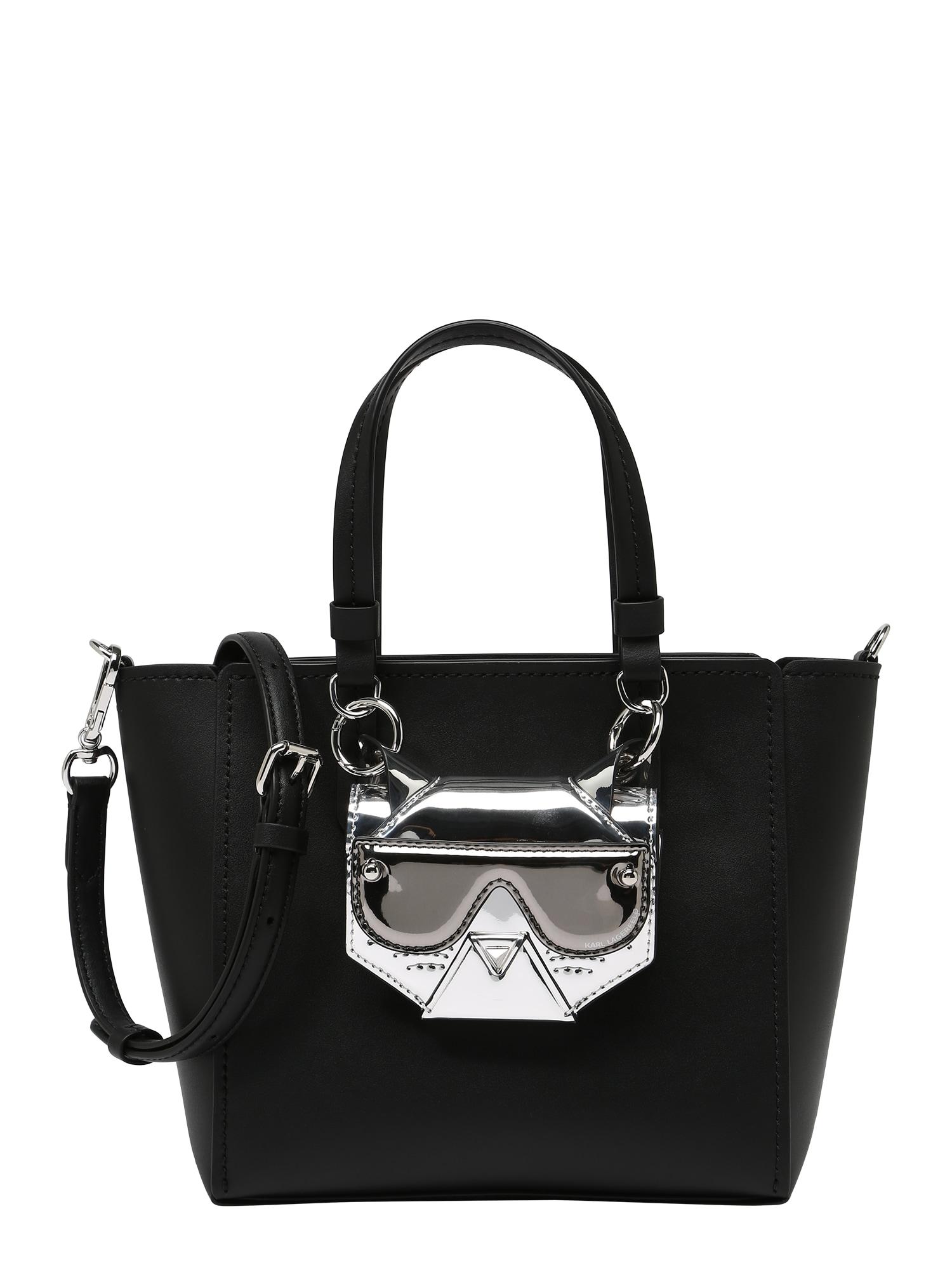 Karl Lagerfeld Kabelka 'Cyber Choupette'  černá / stříbrná