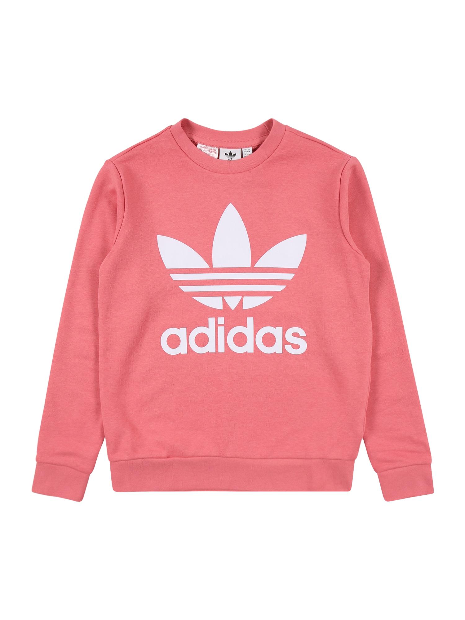 ADIDAS ORIGINALS Megztinis be užsegimo balta / ryškiai rožinė spalva