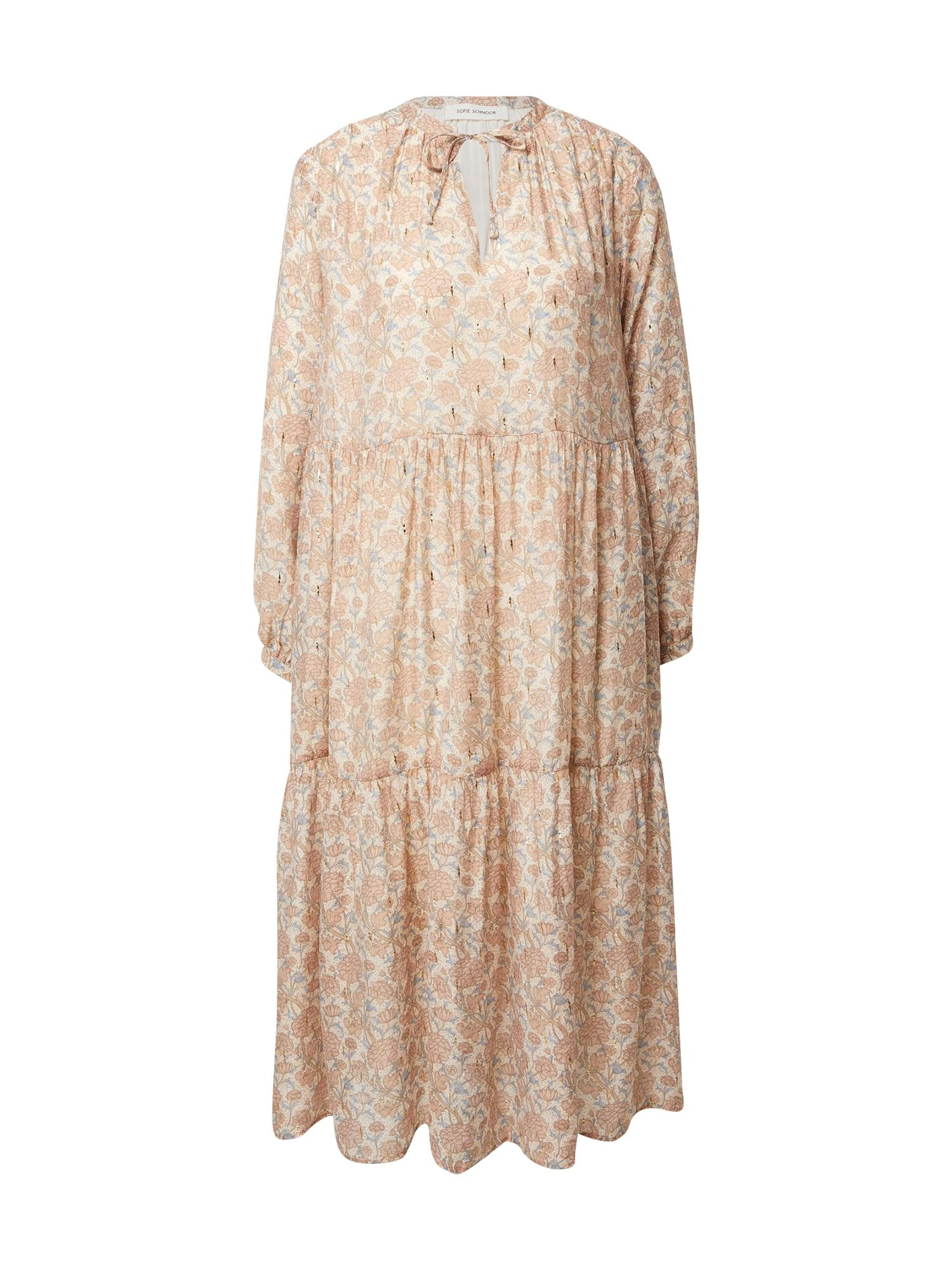 Sofie Schnoor Palaidinės tipo suknelė ryškiai rožinė spalva / kremo / šviesiai mėlyna