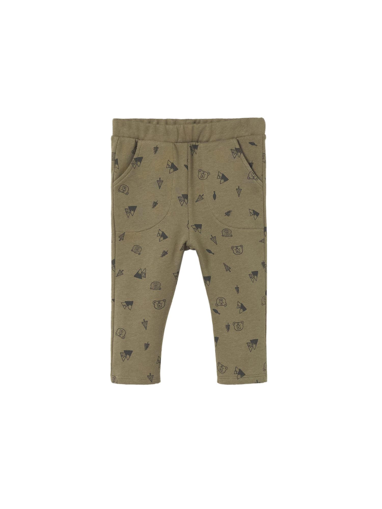 MANGO KIDS Kalhoty  khaki / tmavě modrá