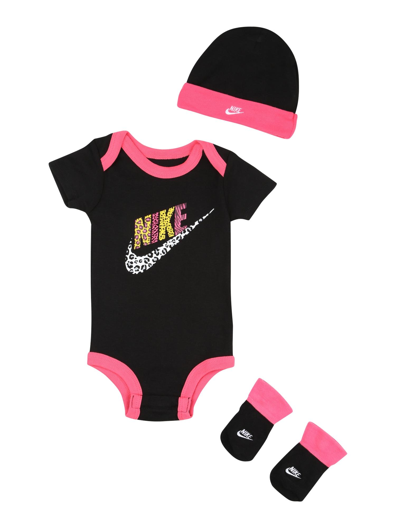 Nike Sportswear Rinkinys juoda / rožinė / geltona / balta