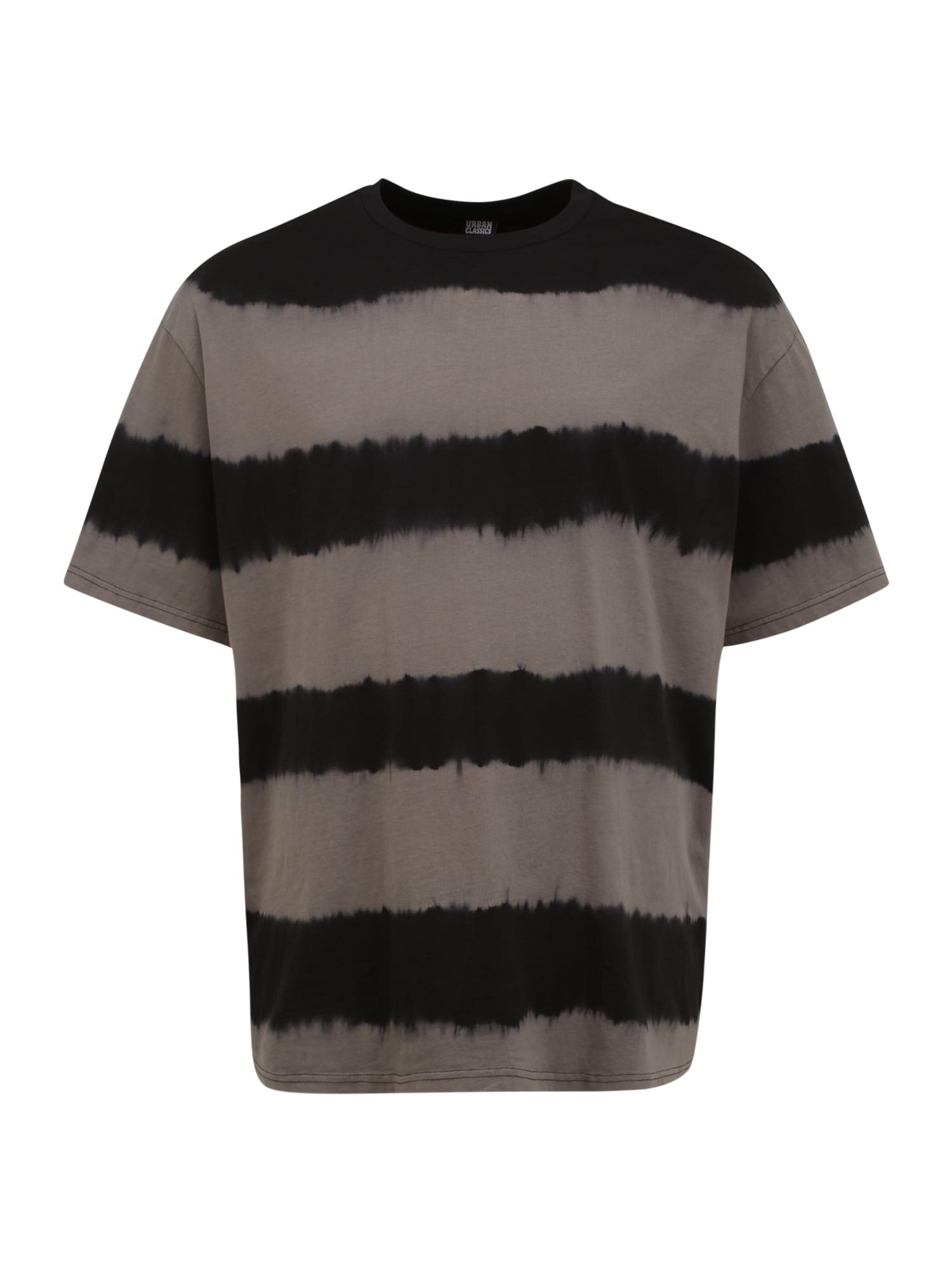 Urban Classics Plus Size Marškinėliai rusvai pilka / antracito spalva
