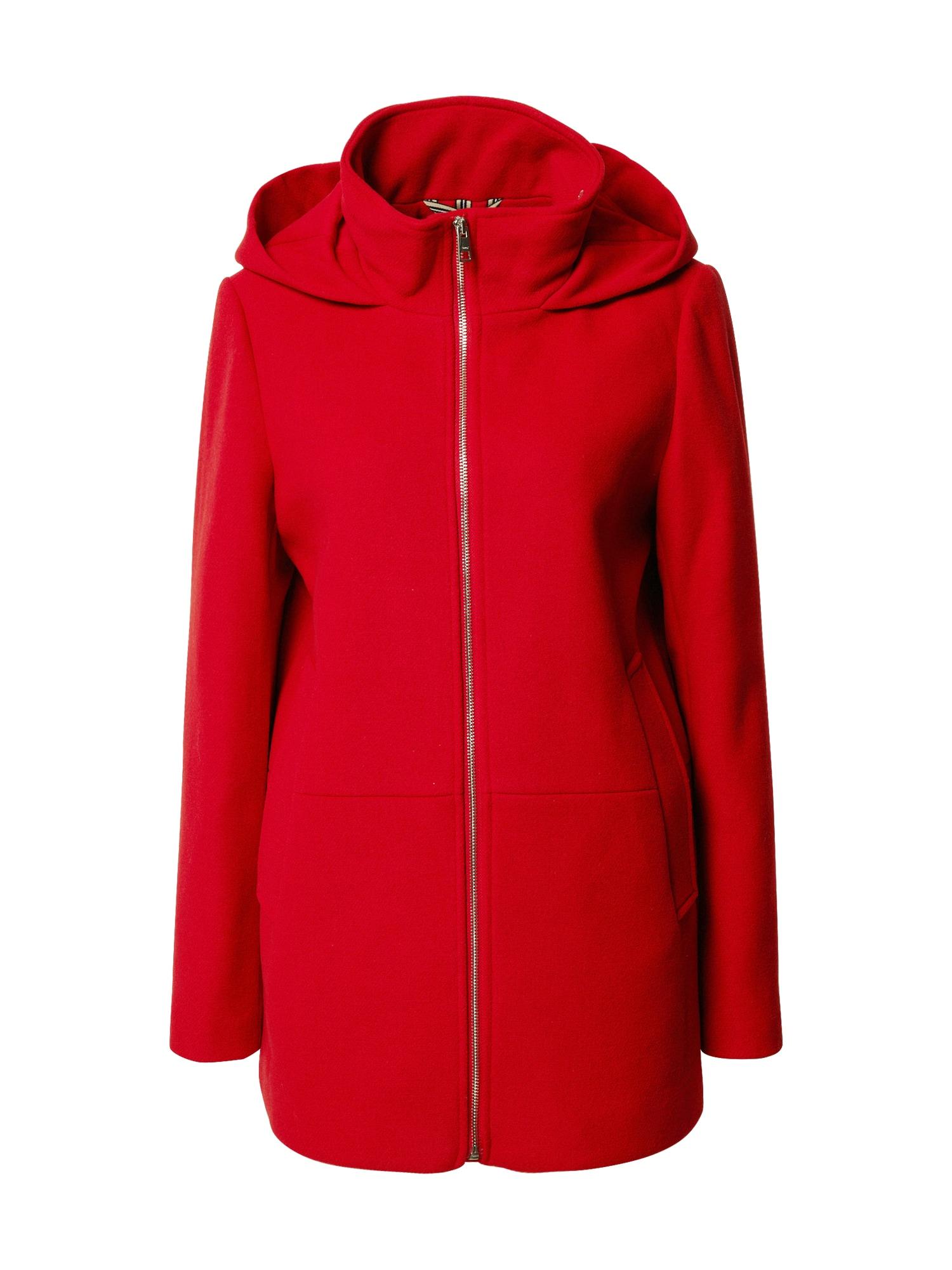 ESPRIT Demisezoninis paltas tamsiai raudona