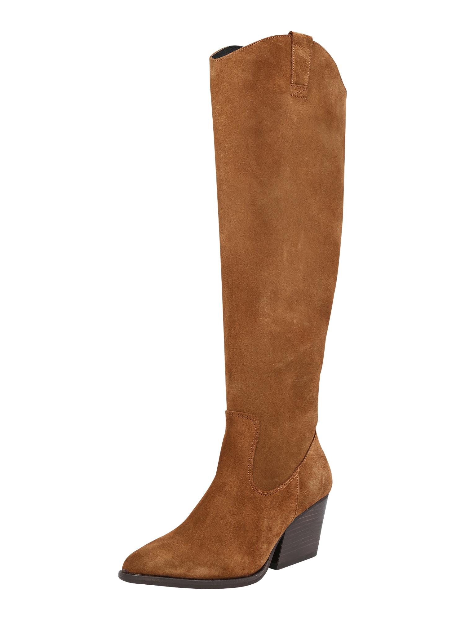 BULLBOXER Kovbojské boty  hnědá