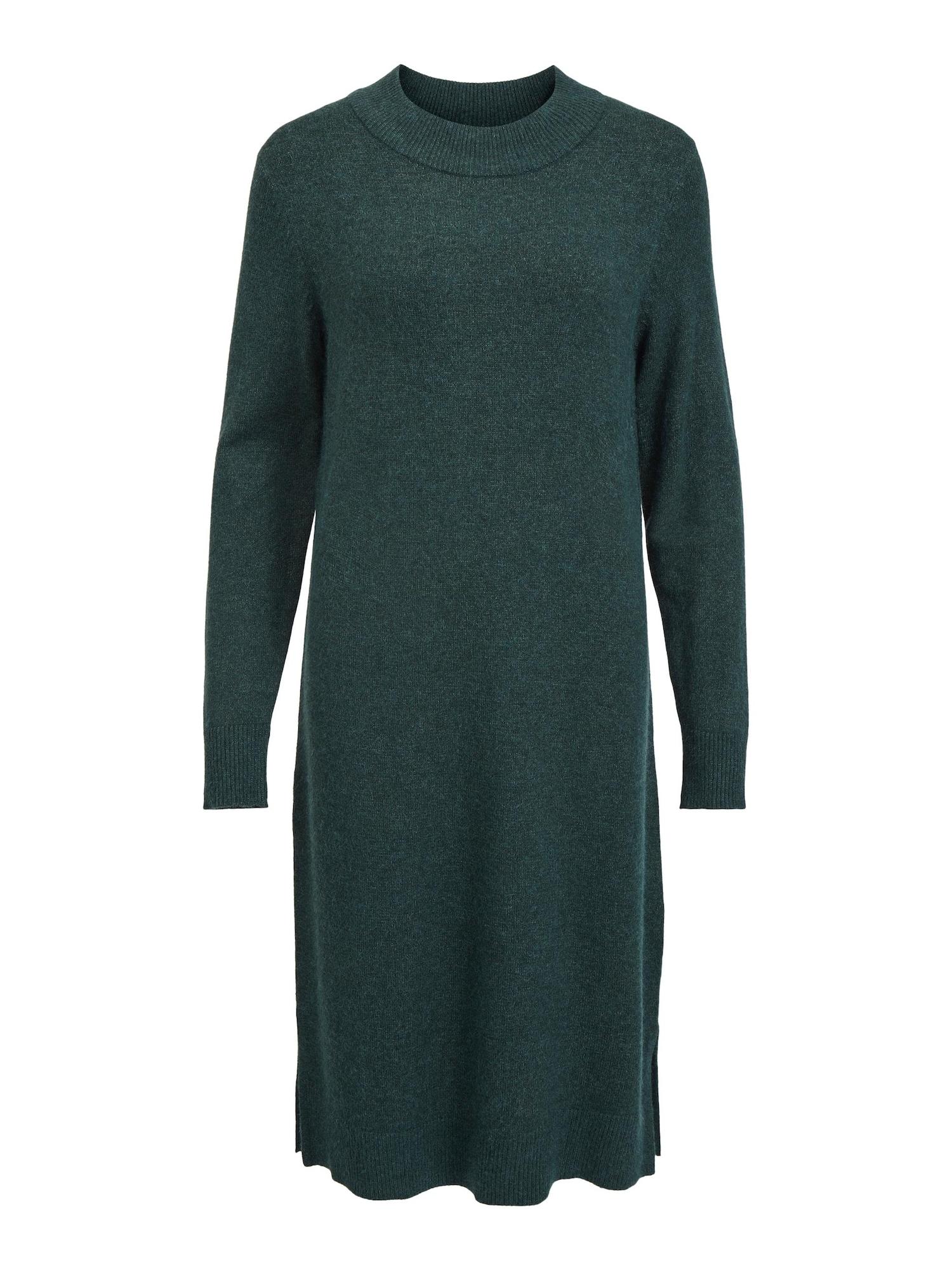 VILA Úpletové šaty 'Ril'  tmavě zelená