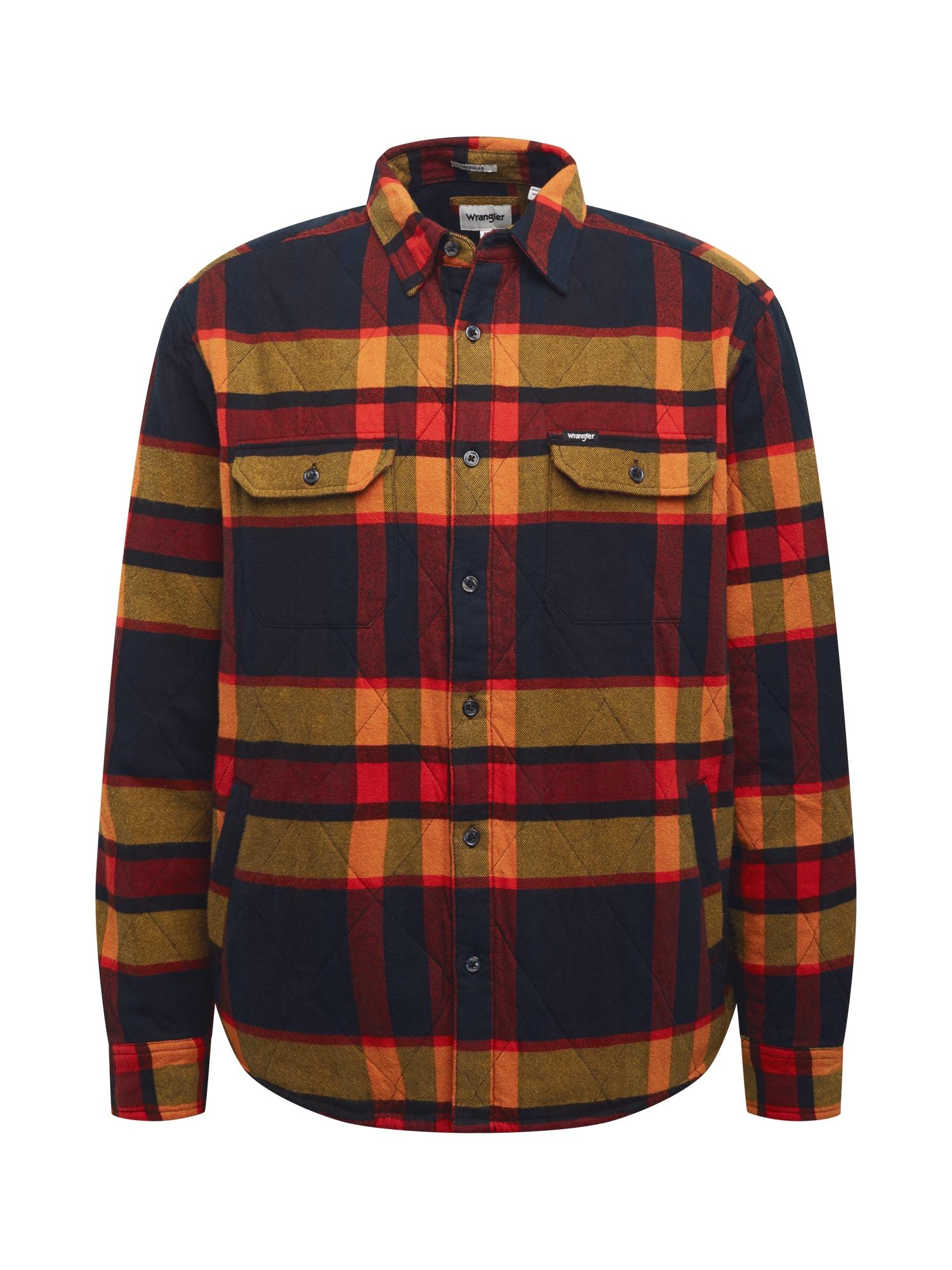 WRANGLER Marškiniai raudona / nakties mėlyna / tamsiai geltona