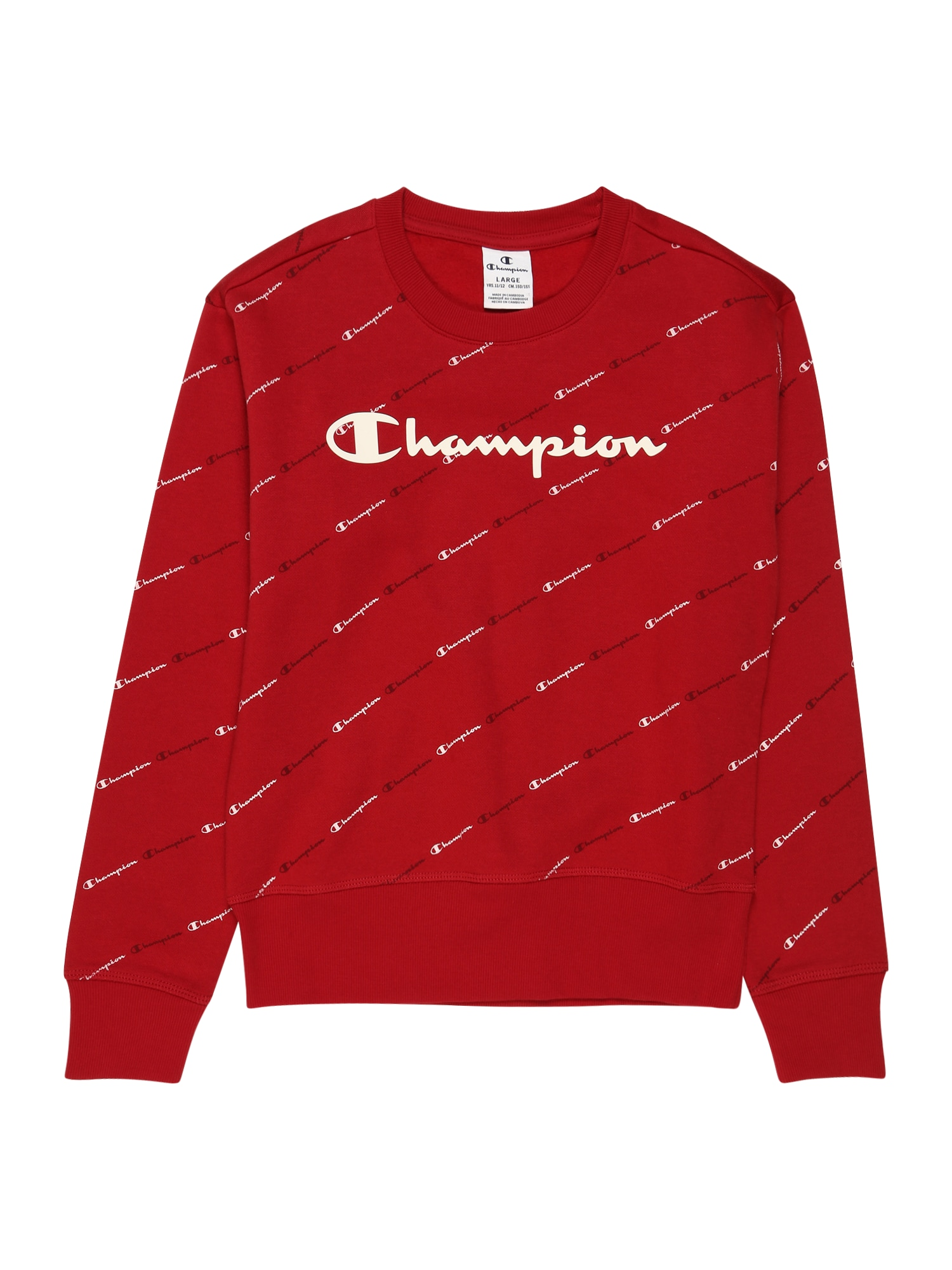 Champion Authentic Athletic Apparel Megztinis be užsegimo tamsiai raudona / balta / juoda