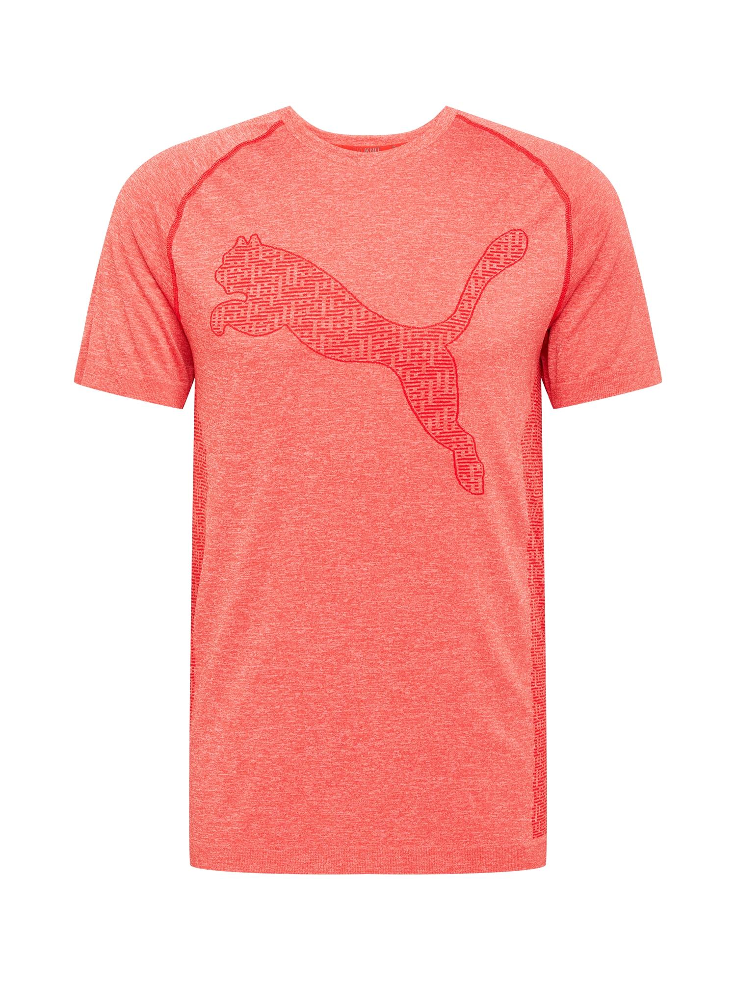 PUMA Sportiniai marškinėliai ryškiai raudona