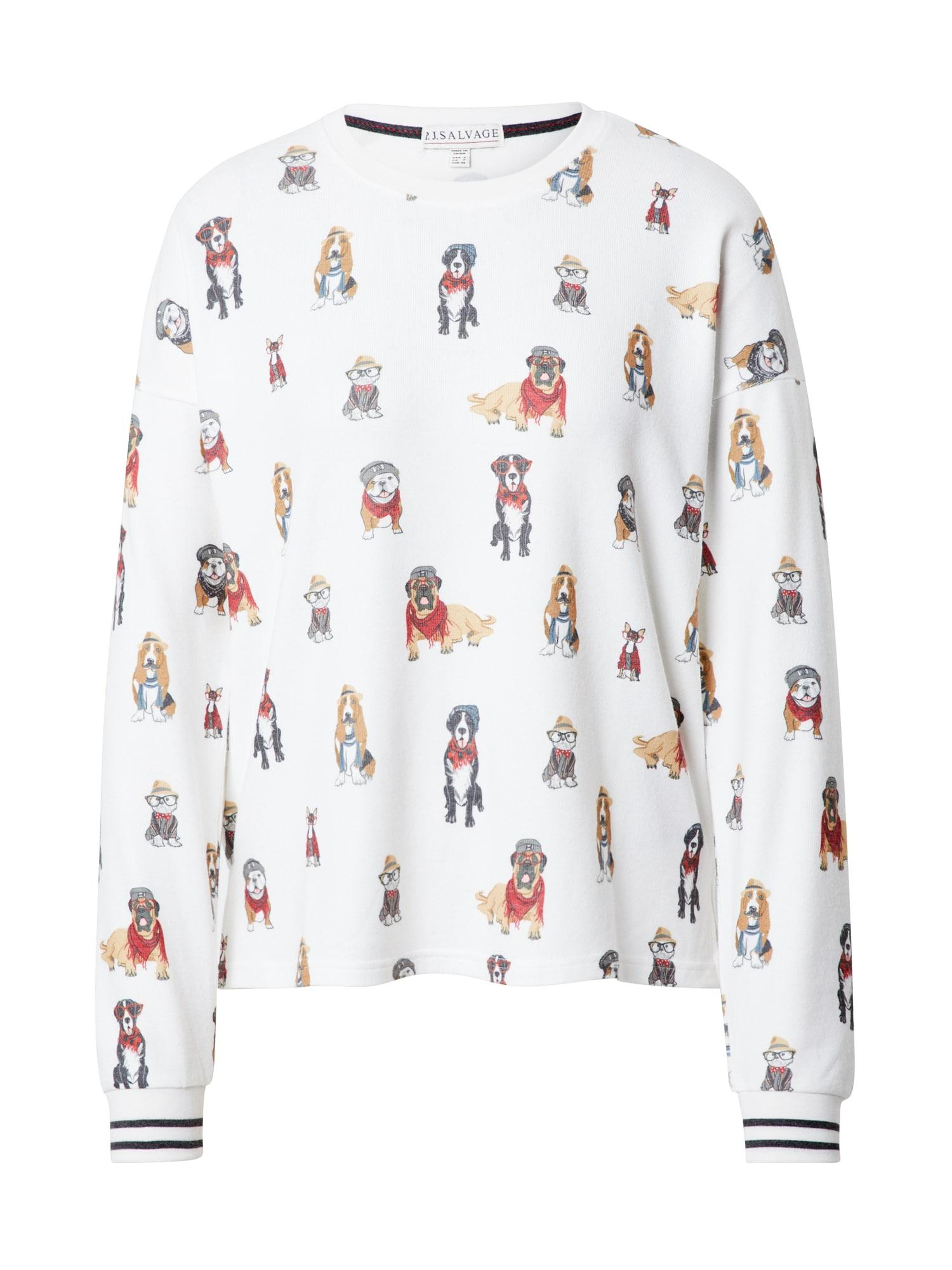 PJ Salvage Pižaminiai marškinėliai balkšva / mišrios spalvos
