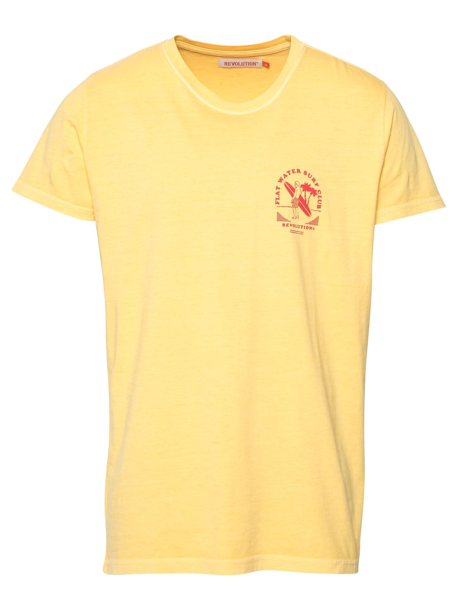 Revolution Marškinėliai žaliosios citrinos spalva / ugnies raudona