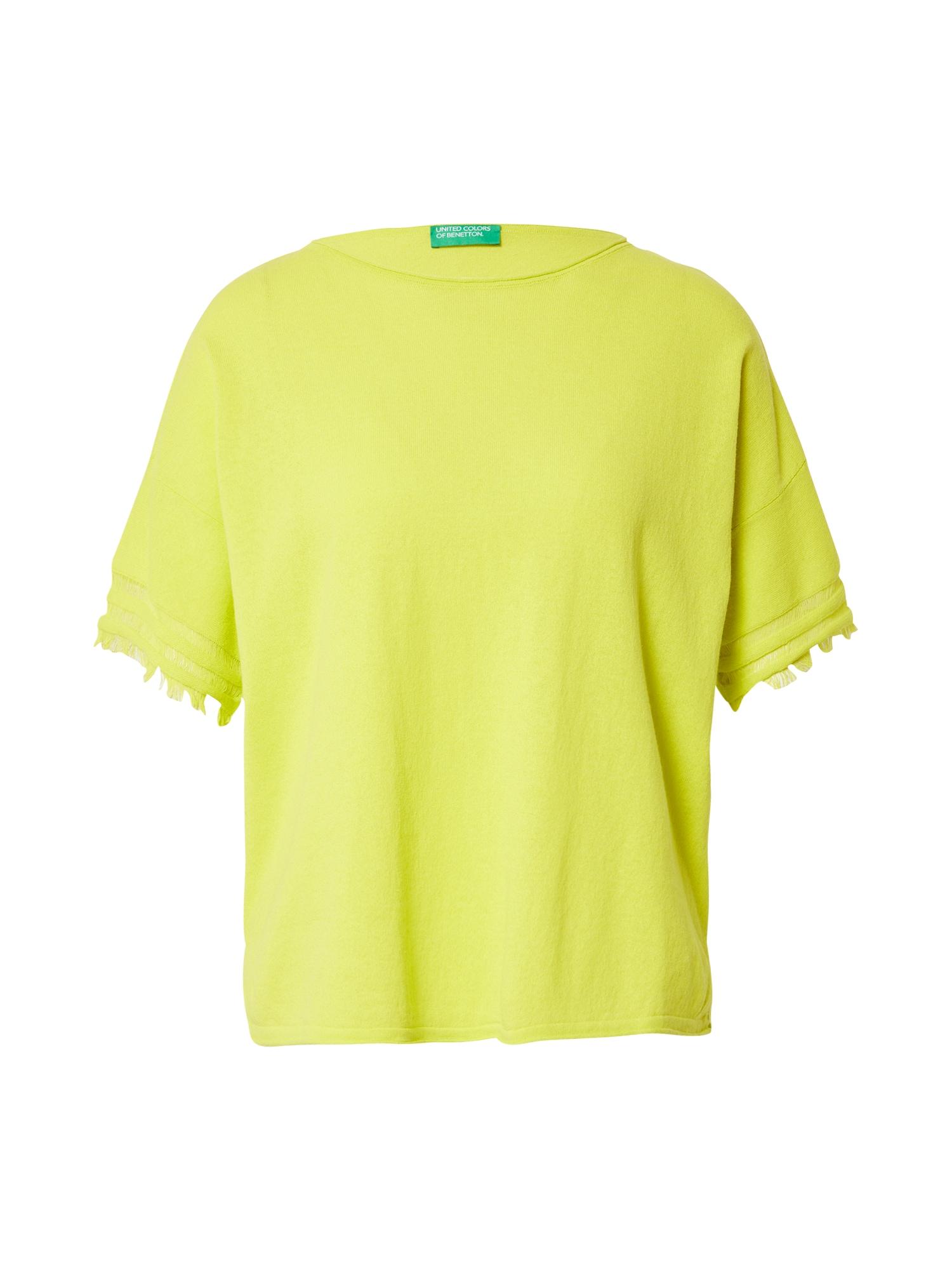UNITED COLORS OF BENETTON Tričko  žlutá